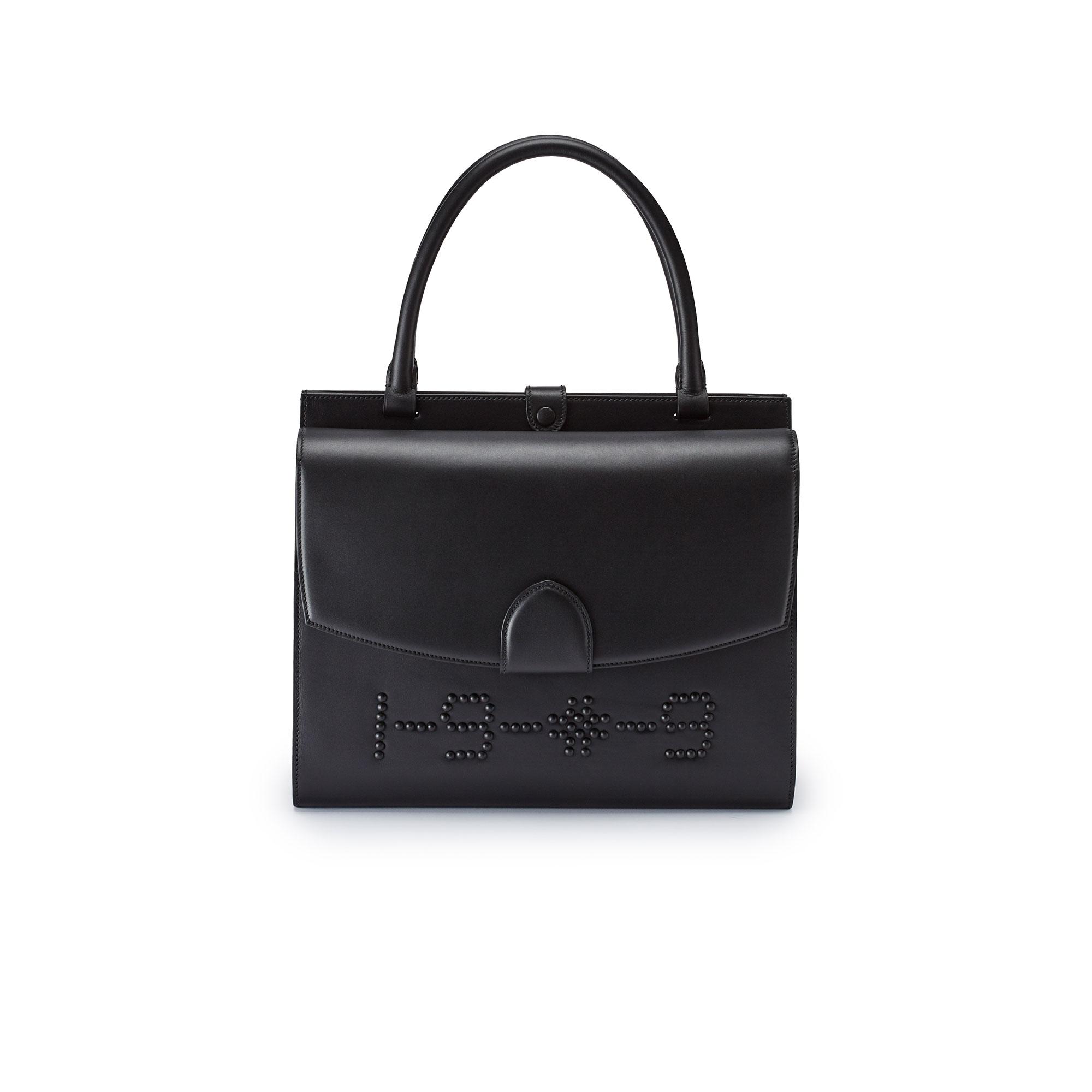 Double-Dafne-black-french-calf-bag-Bertoni-1949