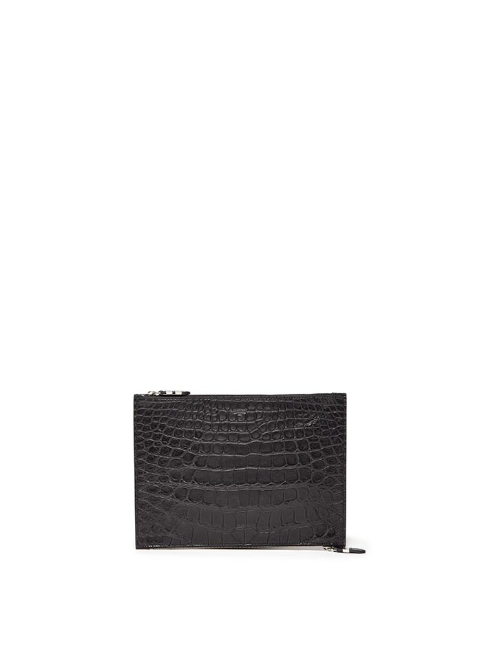 Double-Zipped-Pouch-black-alligator-bag-Bertoni-1949-thumb