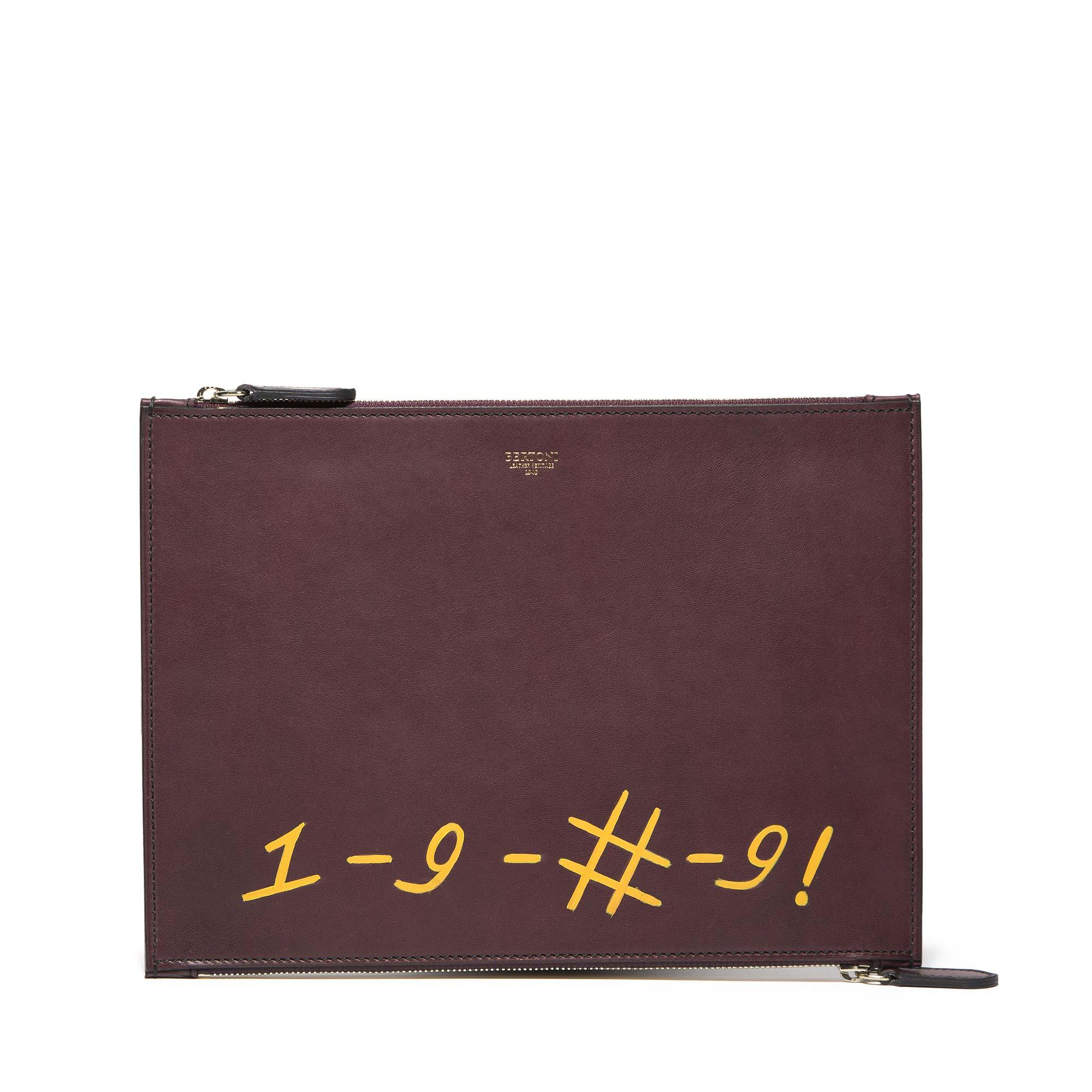 Double-Zipped-Pouch-dark-brown-french-calf-bag-Bertoni-1949