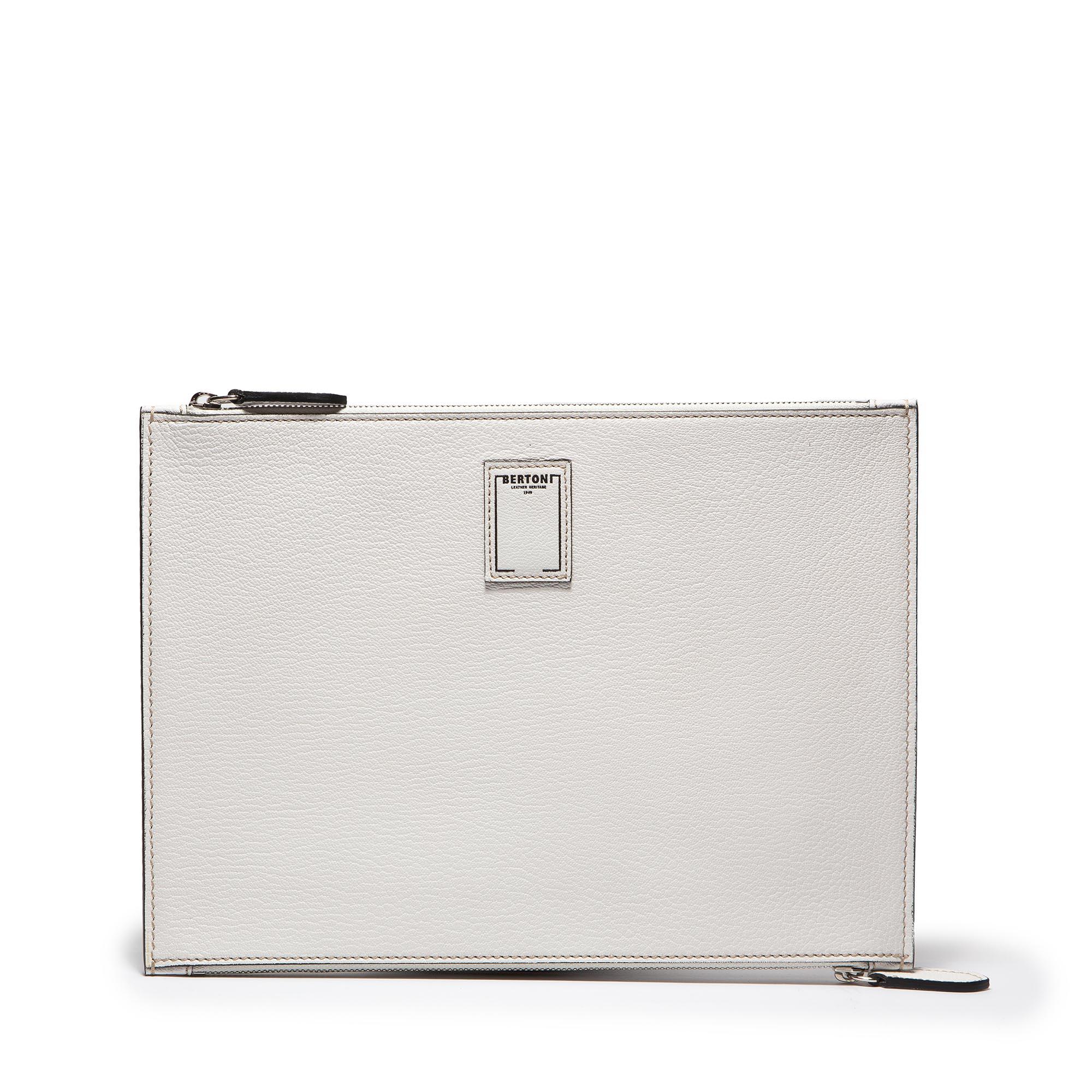 Double-Zipped-Pouch-ivory-goat-skin-bag-Bertoni-1949