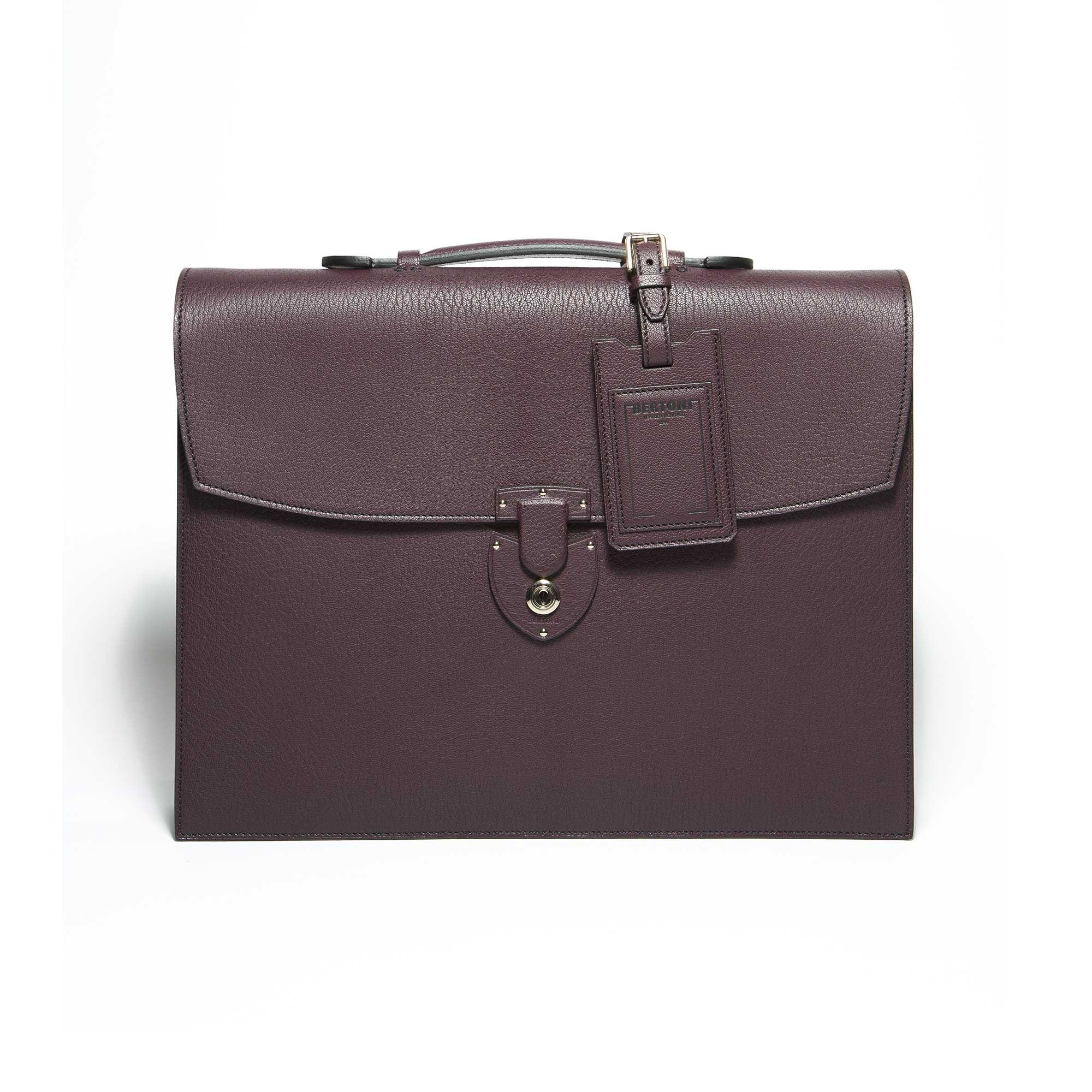 Double-gusset-Briefcase-bordeaux-goat-skin-bag-Bertoni-1949