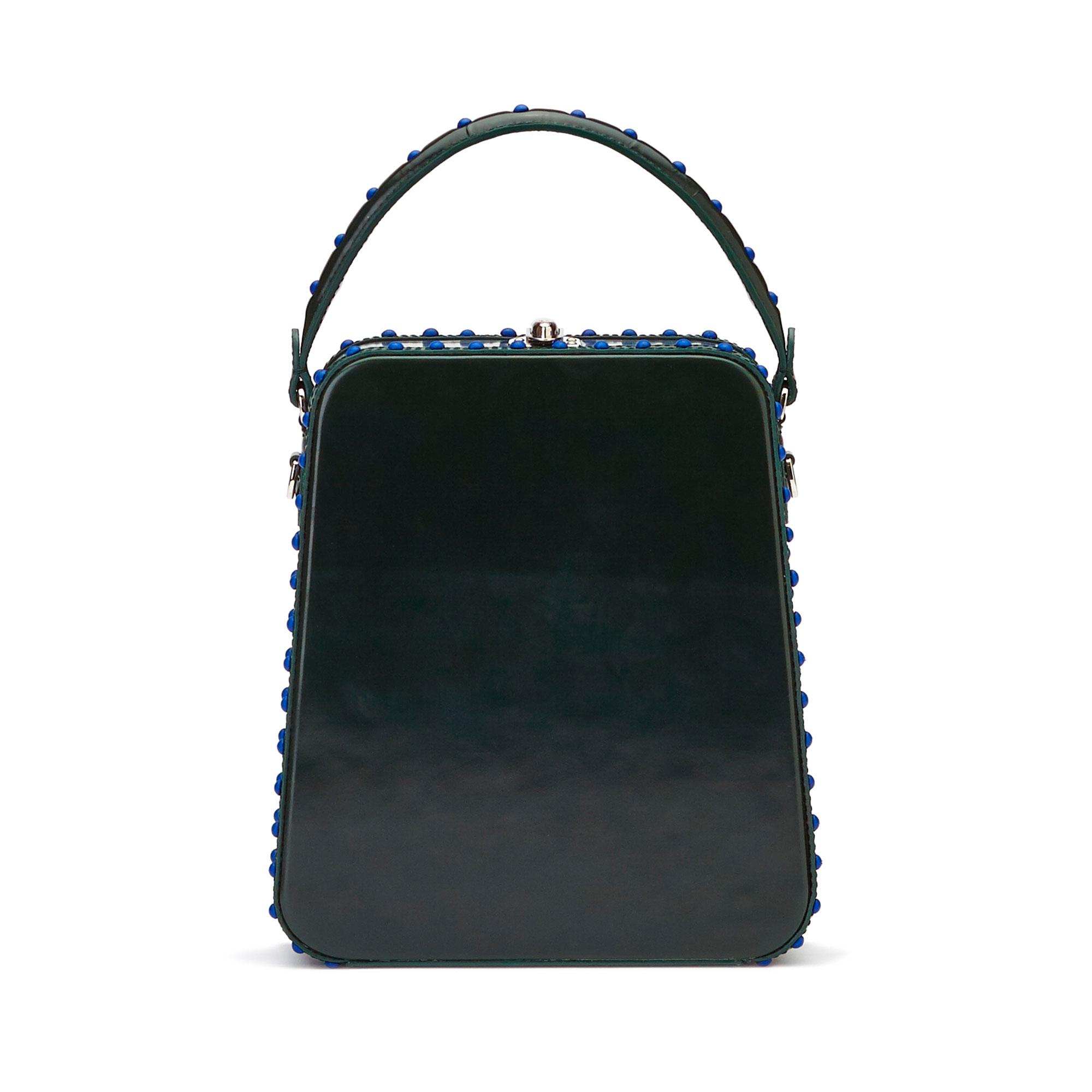 The green brushed calf Tall Bertoncina bag by Bertoni 1949 01