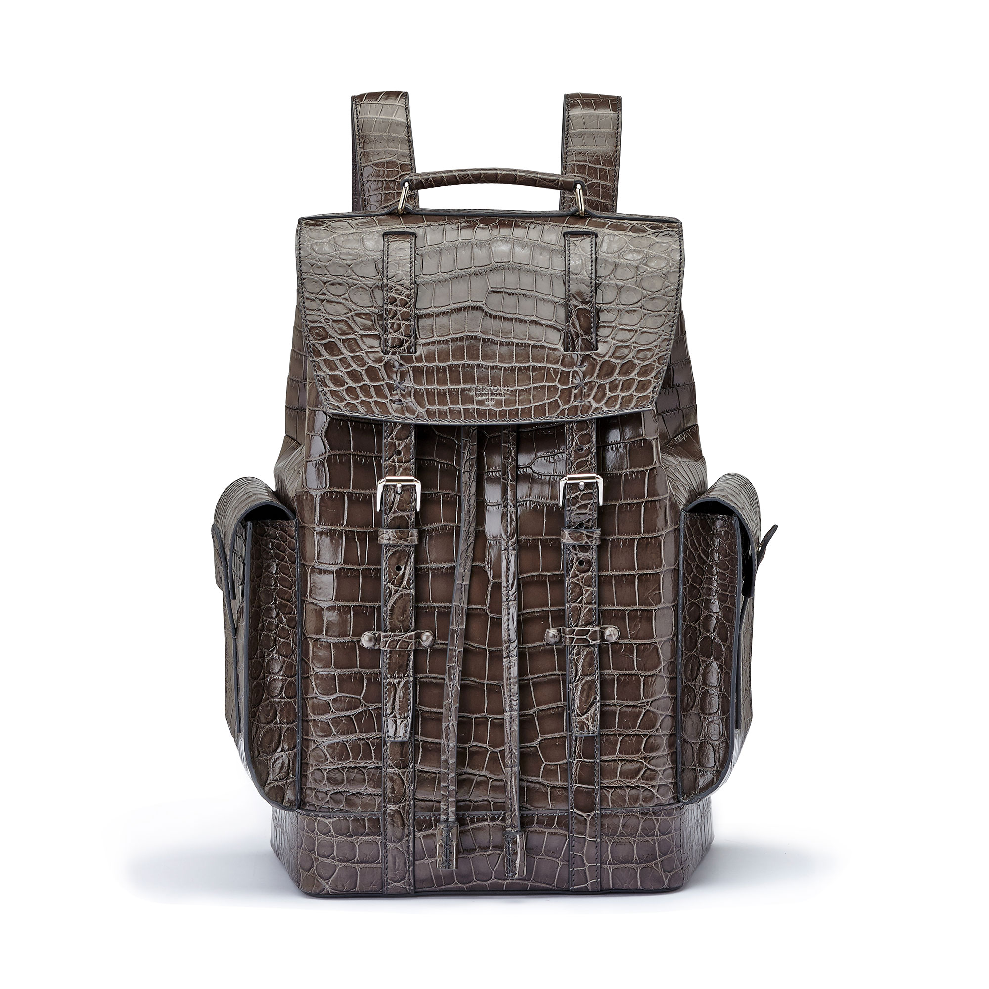 The grey alligator Traveller Backpack by Bertoni 1949 01