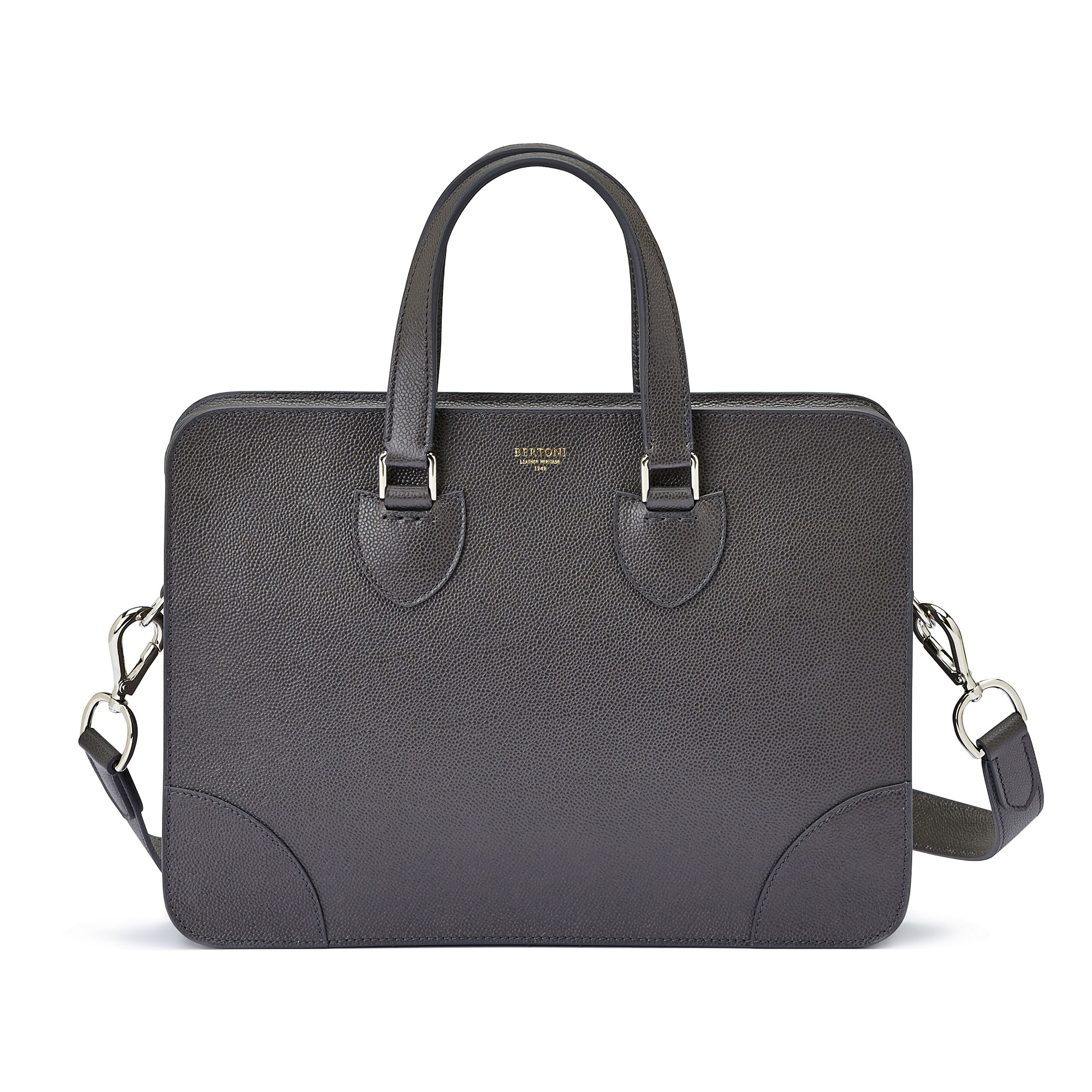 The grey grain calf Double Handle 37 by Bertoni 1949 03