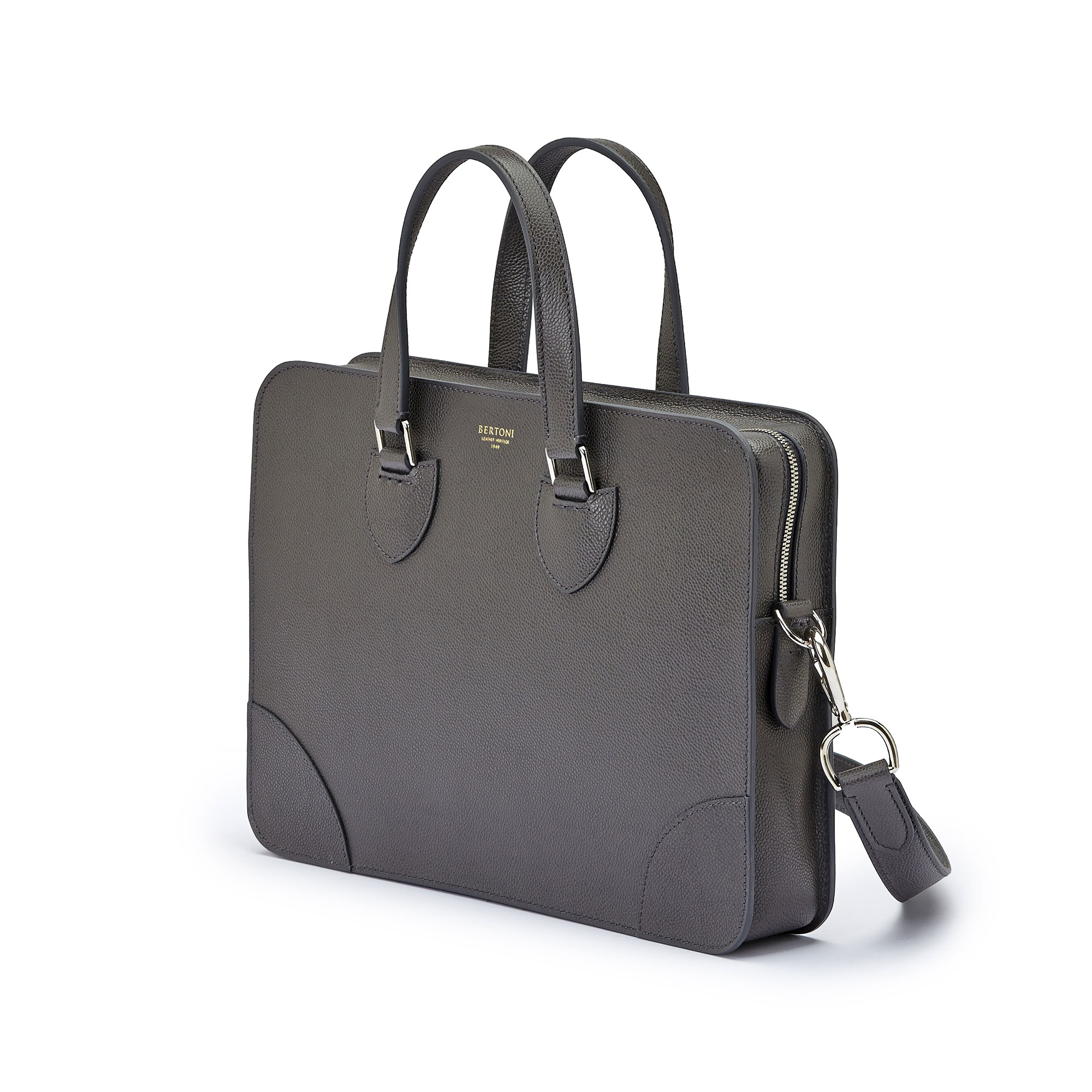 The grey grain calf Double Handle 37 by Bertoni 1949 04