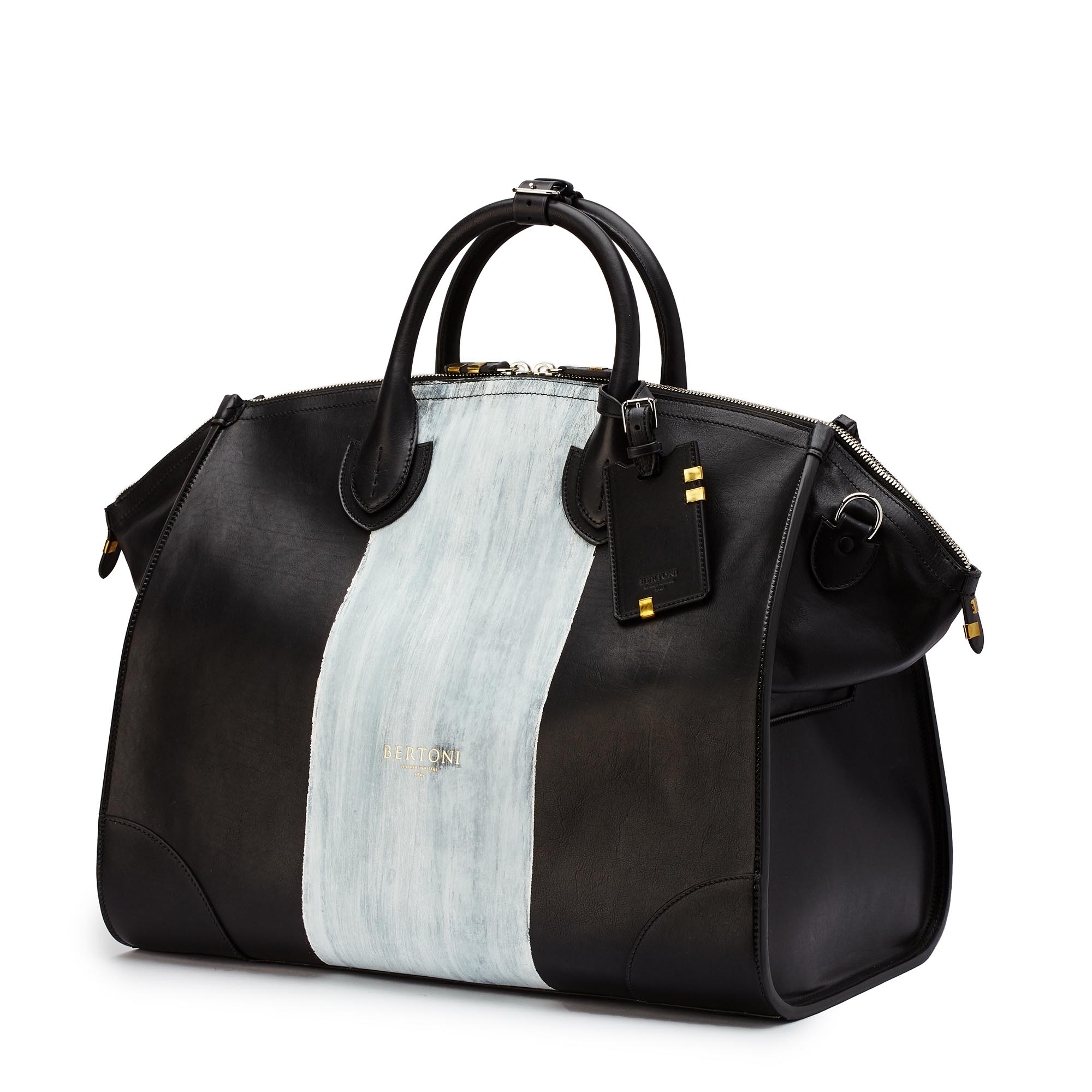 Gulliver-black-ivory-rock-calf-bag-Bertoni-1949_02