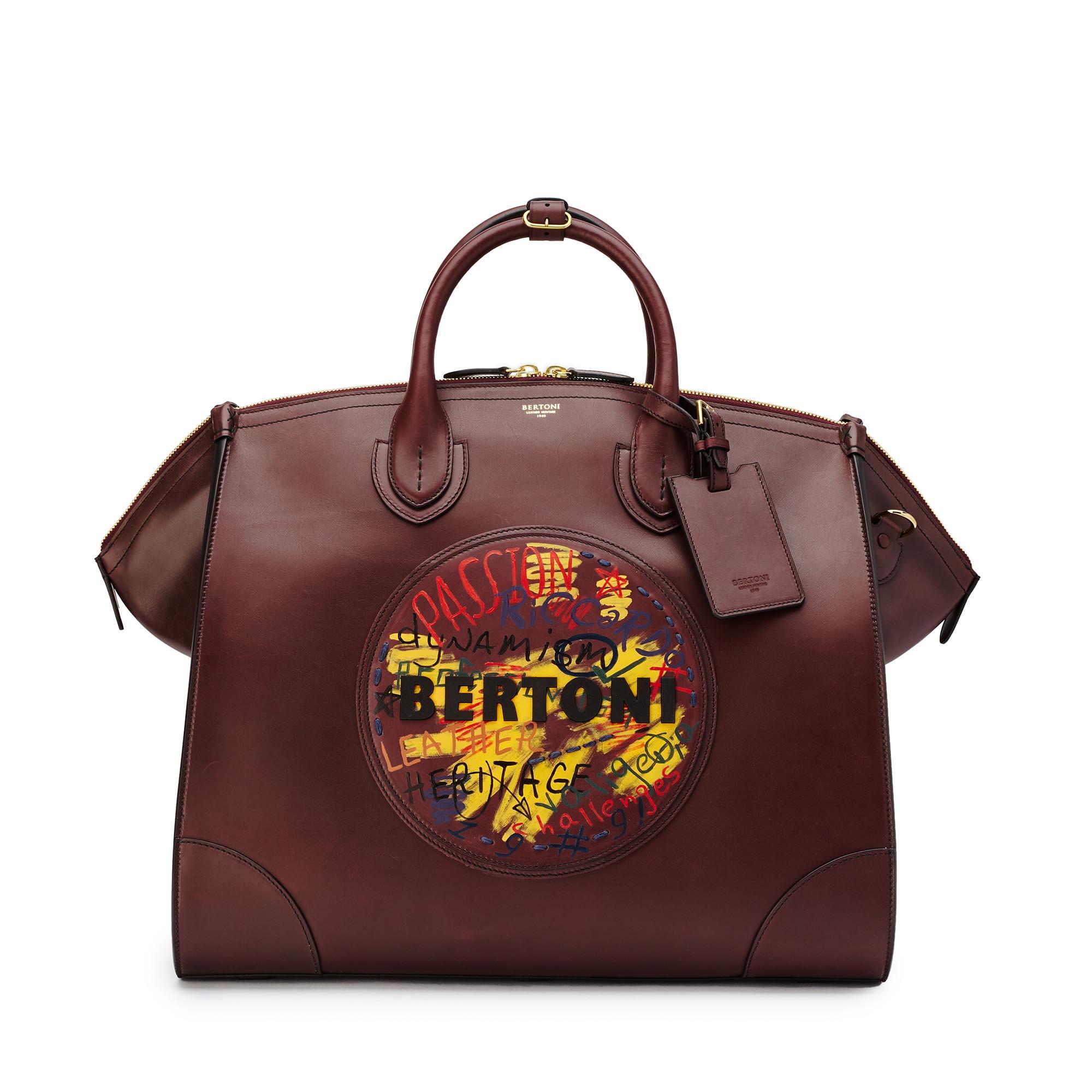 Gulliver-bordeaux-french-calf-bag-Bertoni-1949