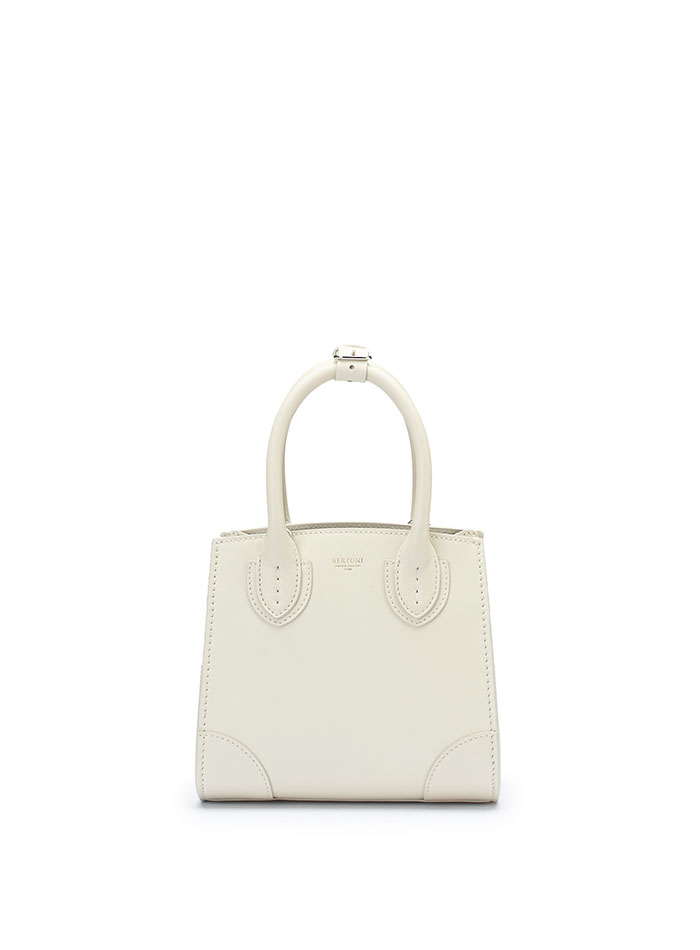 The ivory french calf Darcy bag by Bertoni 1949