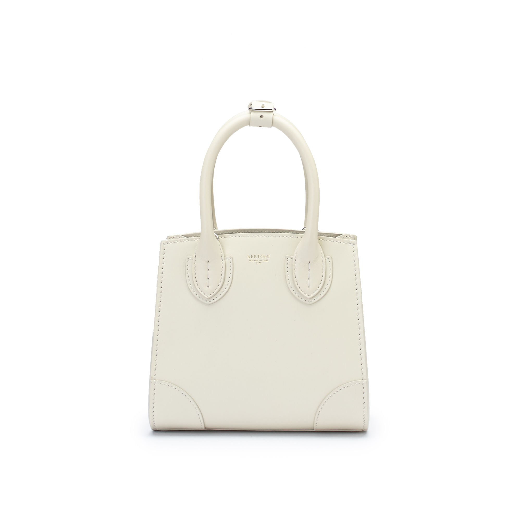 The ivory french calf Darcy bag by Bertoni 1949 01