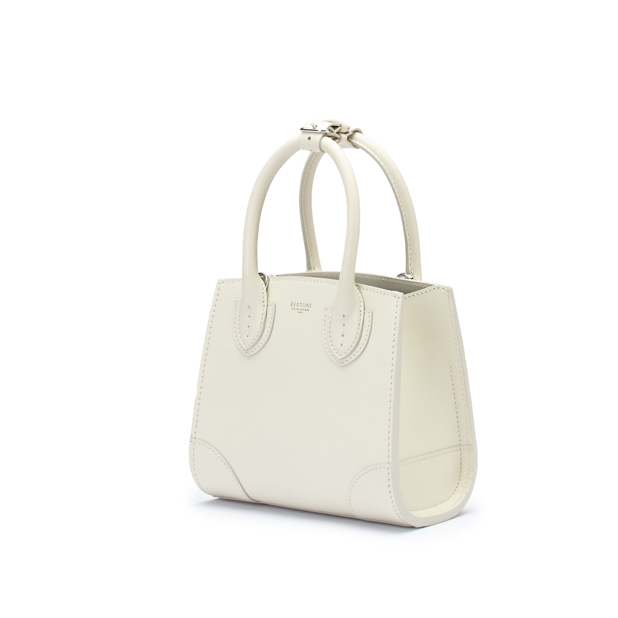 The ivory french calf Darcy bag by Bertoni 1949 03