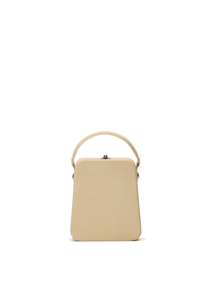 The ivory french calf Tall Bertoncina bag by Bertoni 1949