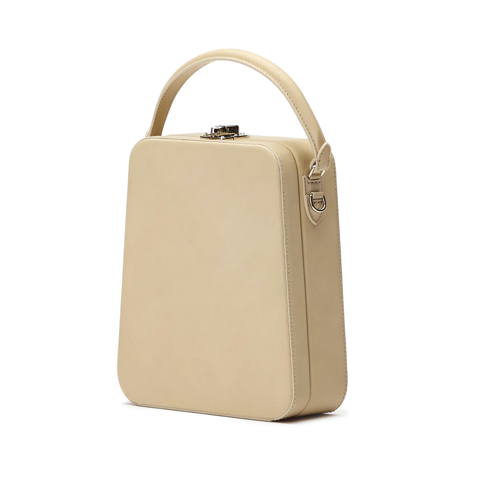 The ivory french calf Tall Bertoncina bag by Bertoni 1949 02