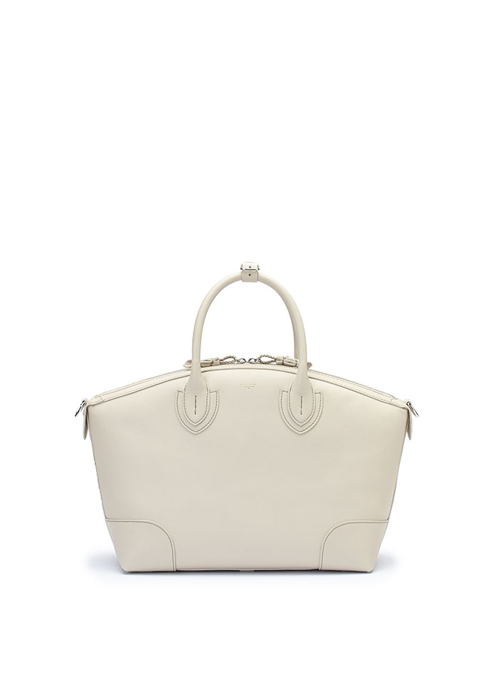 The ivory soft calf Anija bag by Bertoni 1949