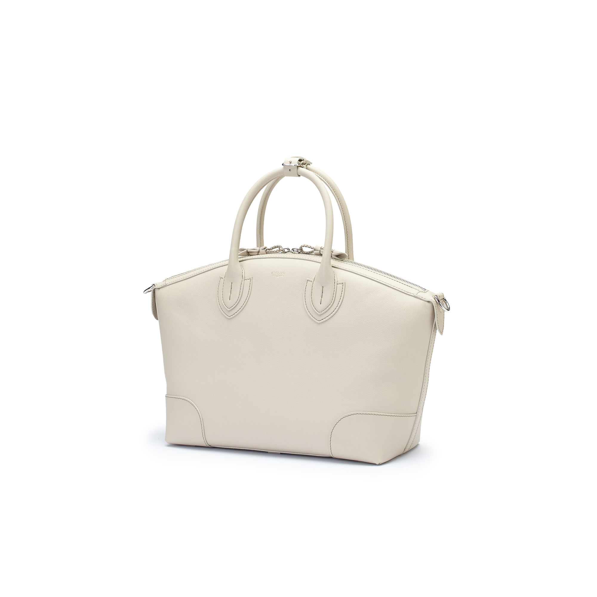 The ivory soft calf Anija bag by Bertoni 1949 02