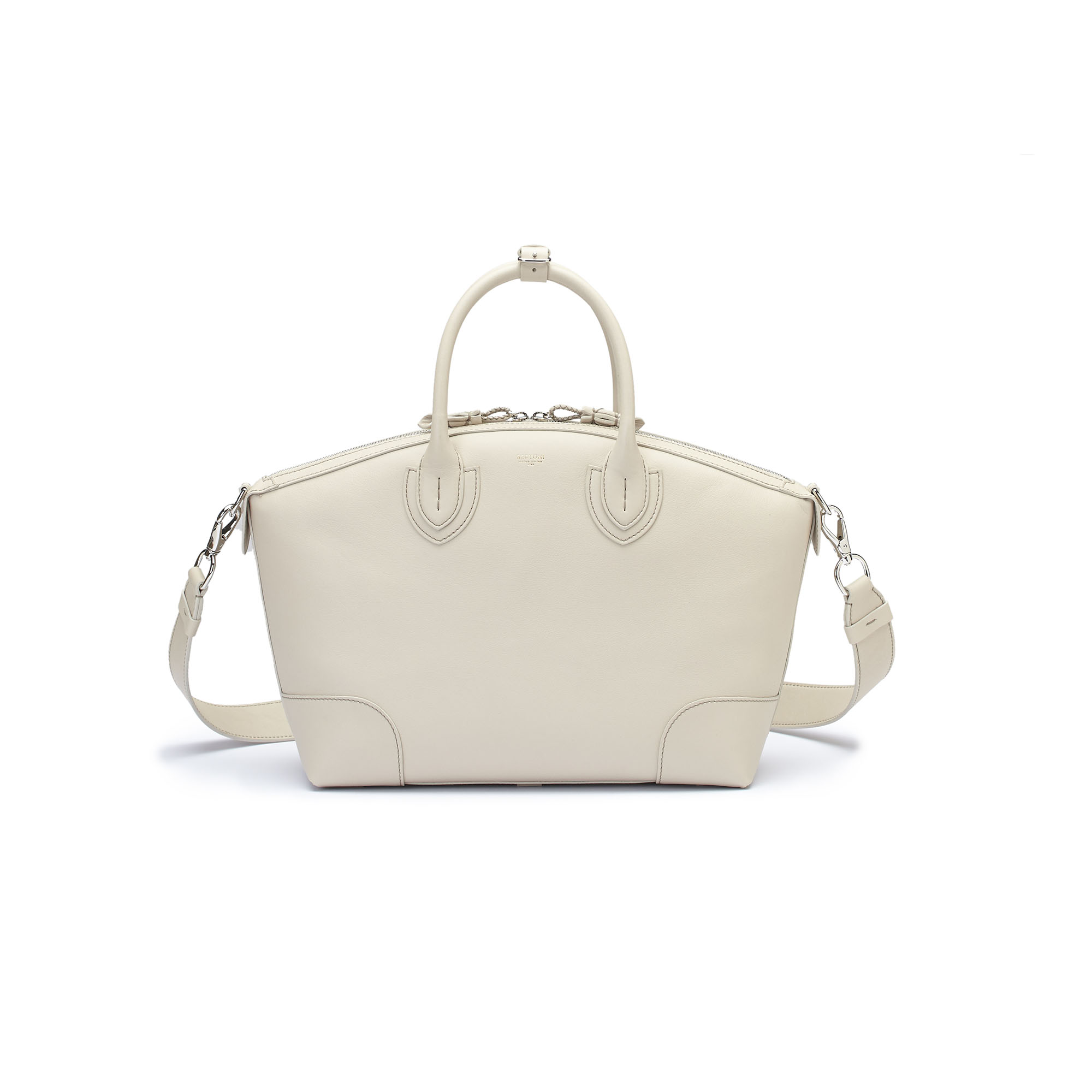 The ivory soft calf Anija bag by Bertoni 1949 03
