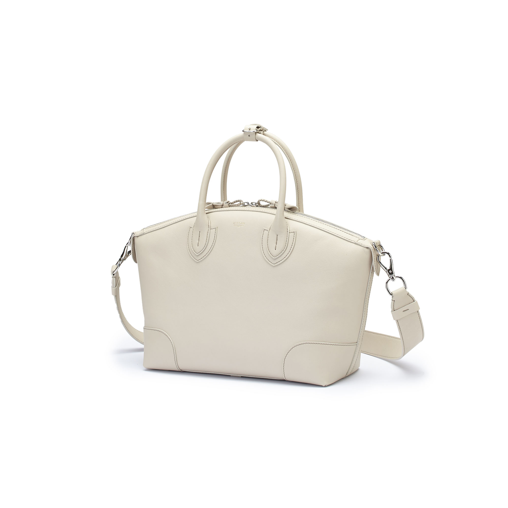 The ivory soft calf Anija bag by Bertoni 1949 04