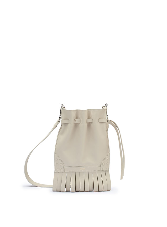 The Ivory soft calf Fanny Fringe bag by Bertoni 1949