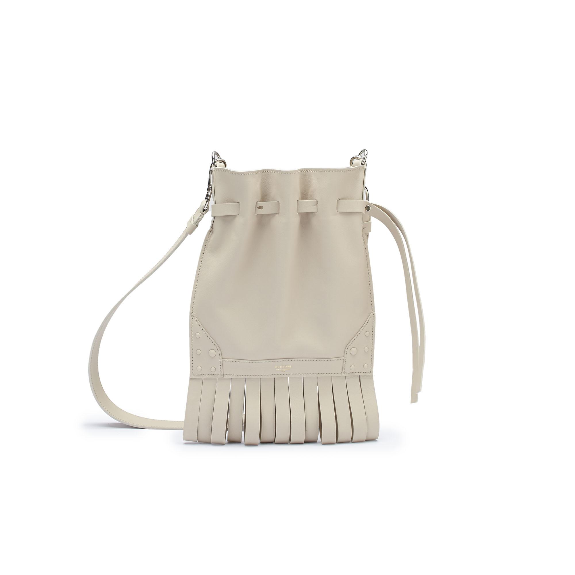 The Ivory soft calf Fanny Fringe bag by Bertoni 1949 01