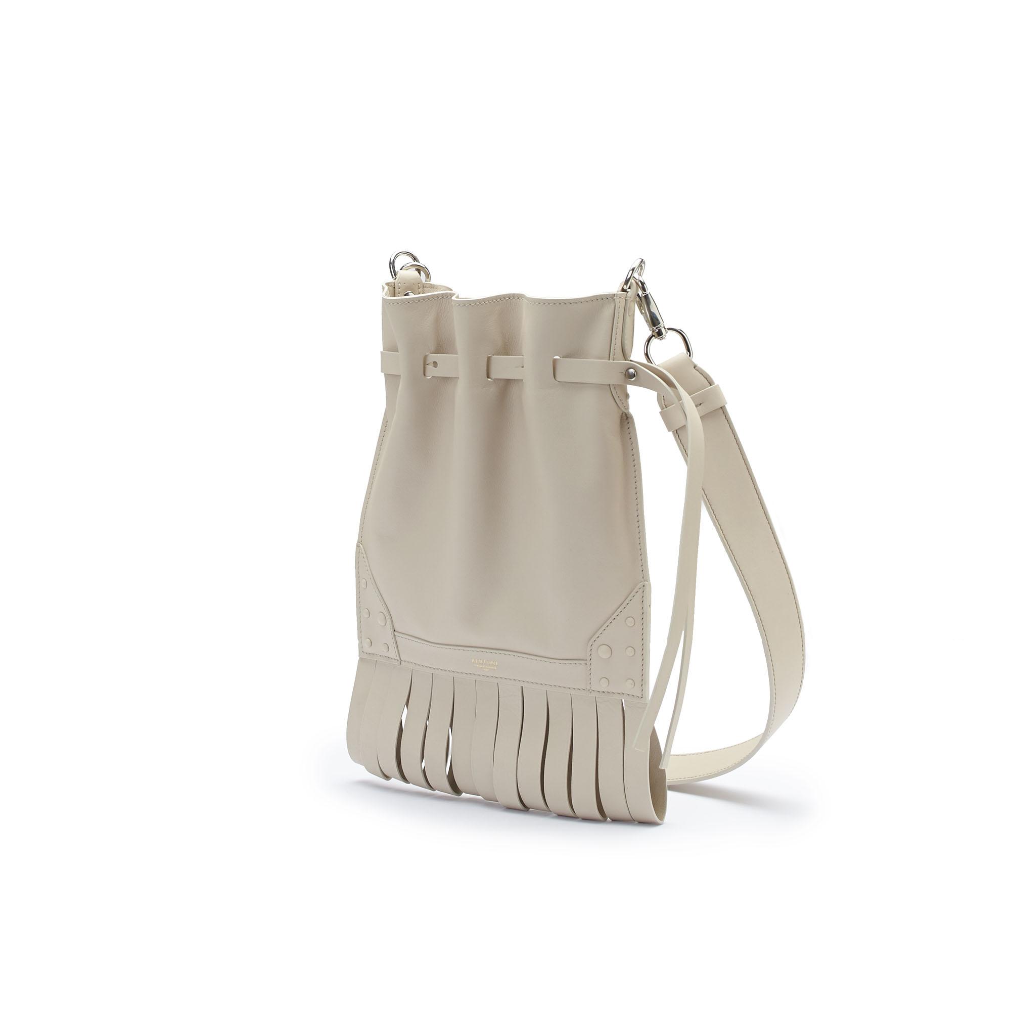 The Ivory soft calf Fanny Fringe bag by Bertoni 1949 02