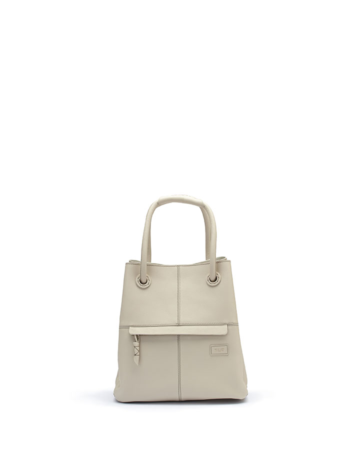 The Ivory soft calf Satchel bag by Bertoni 1949