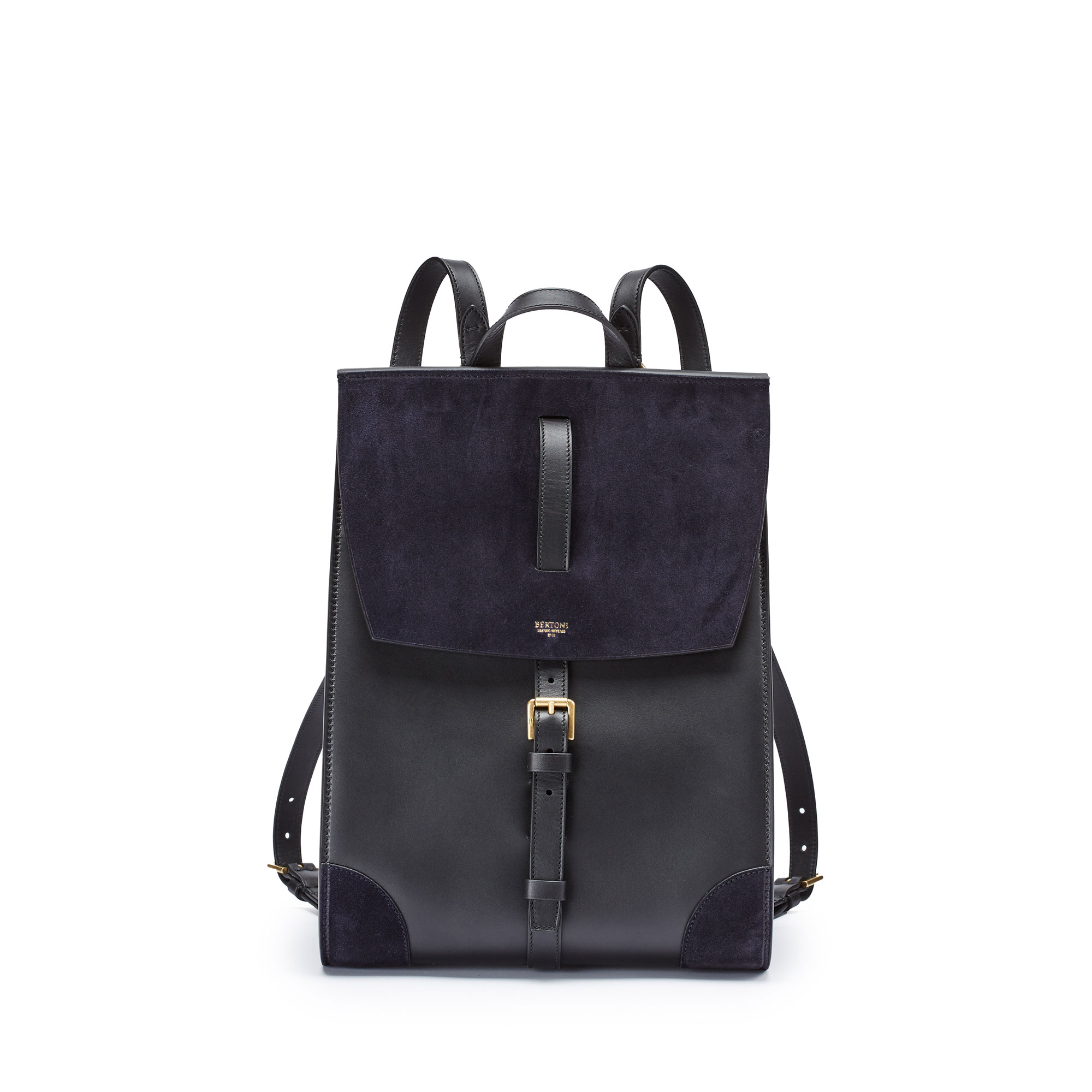 Julia-black-suede-backpack-Bertoni-1949