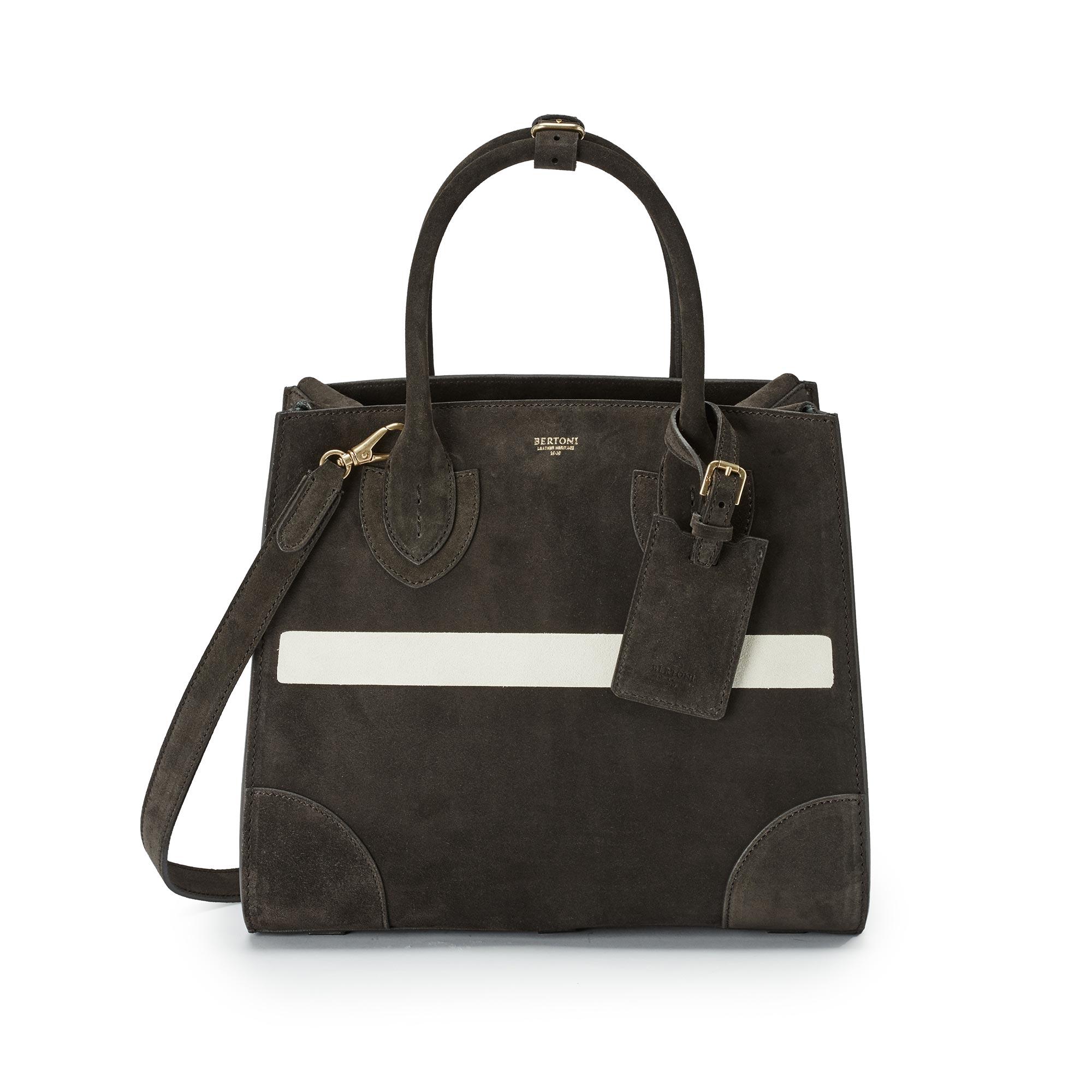 Medium-Darcy-coffee-suede-bag-Bertoni-1949