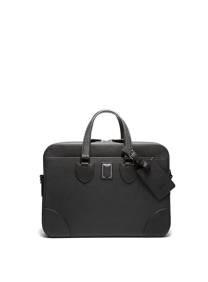 Medium-Double-Handle-black-goat-skin-bag-Bertoni-1949-thumb