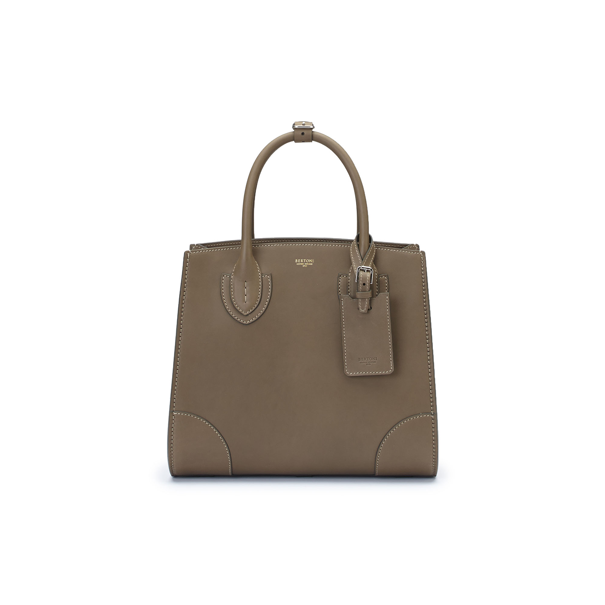 The military green french calf Darcy bag by Bertoni 1949 01