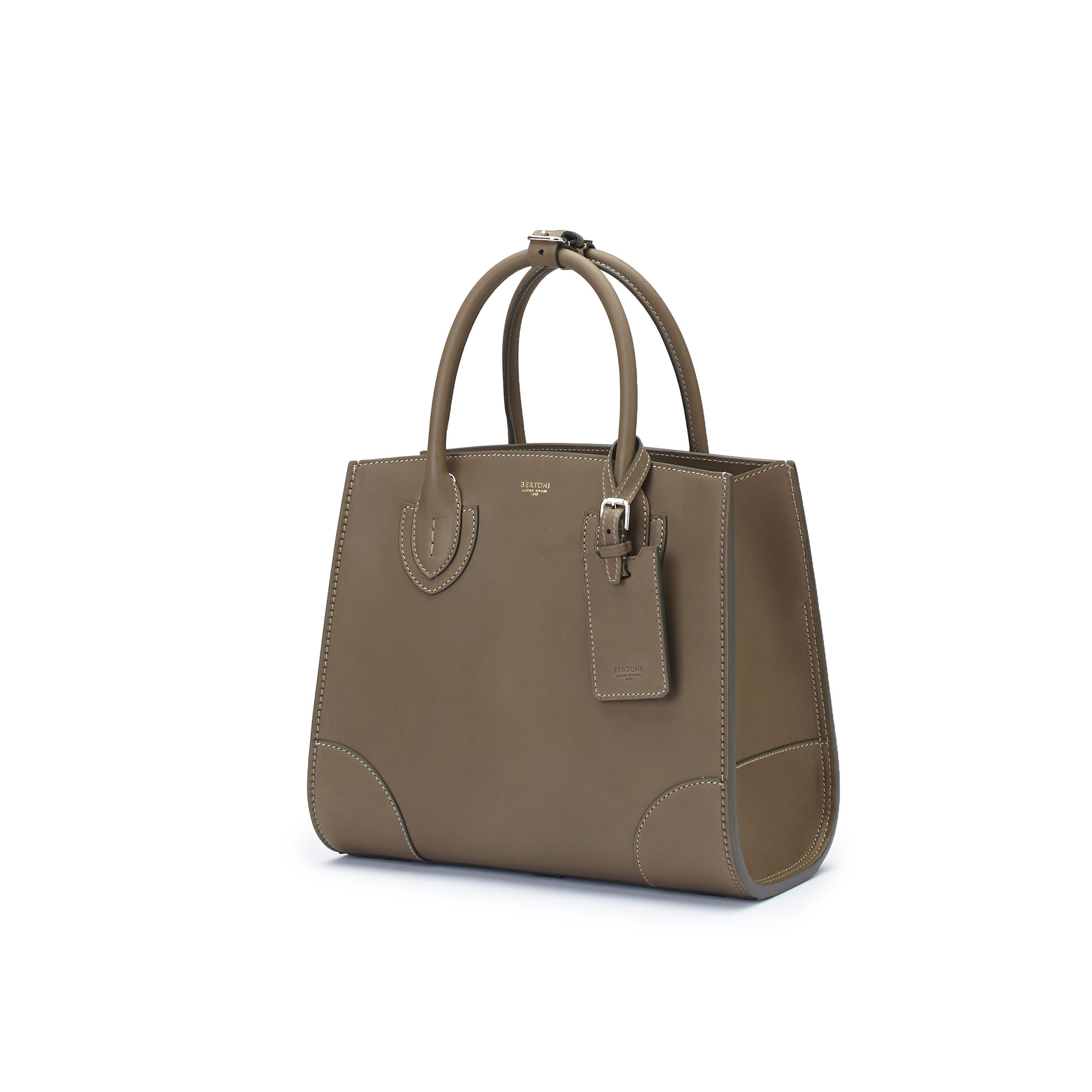 The military green french calf Darcy bag by Bertoni 1949 02