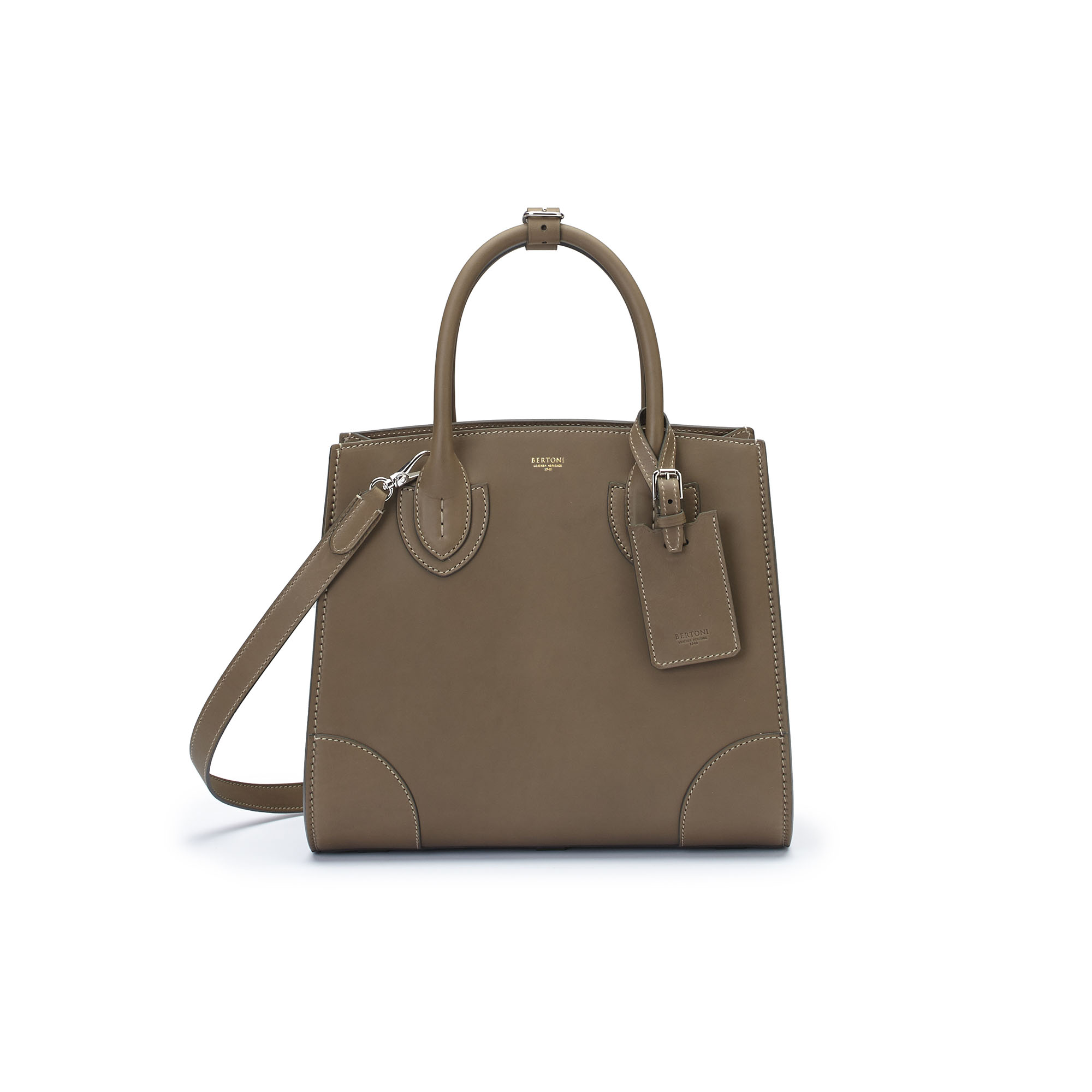 The military green french calf Darcy bag by Bertoni 1949 03