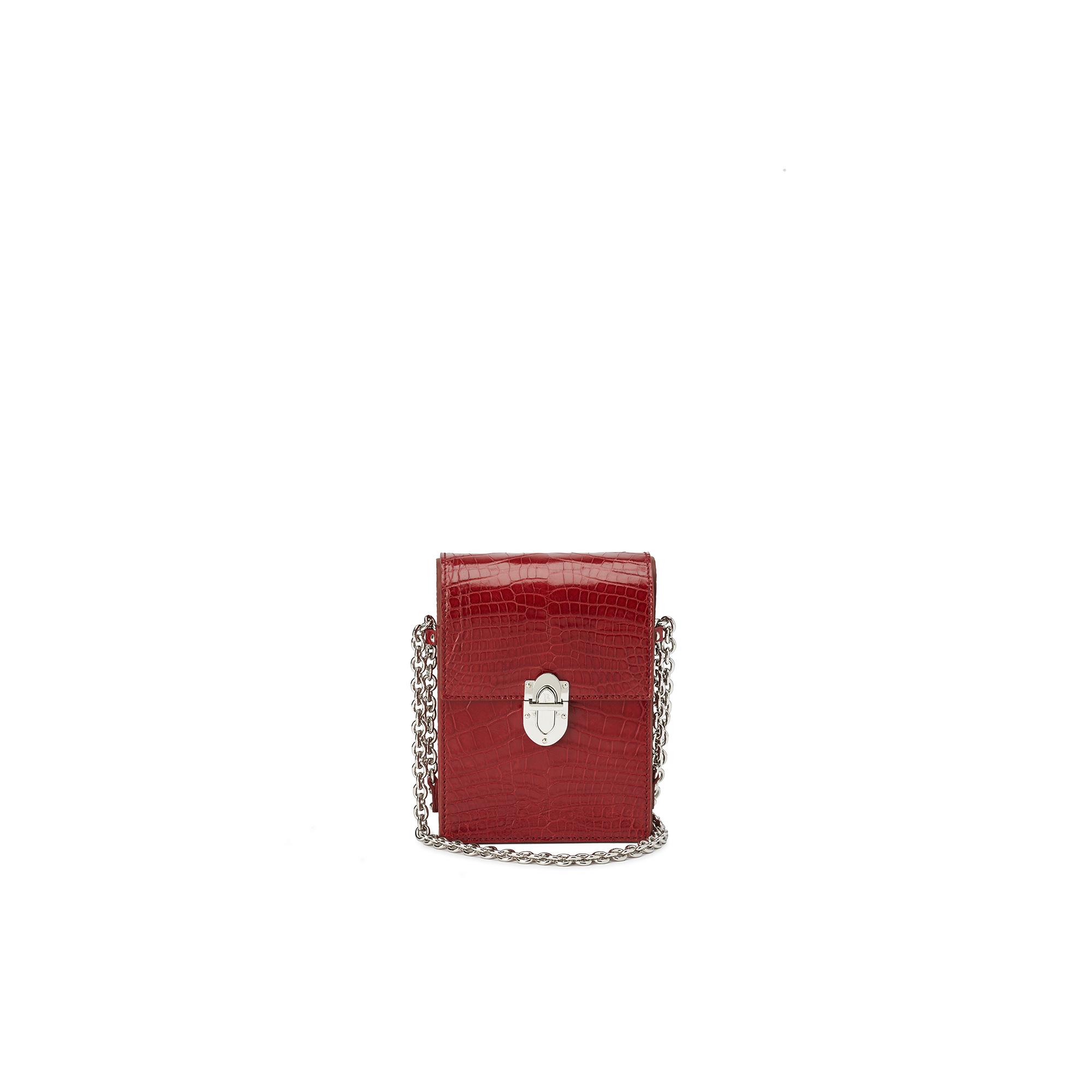 Mini-Gigi-cherry-red-alligator-bag-Bertoni-1949