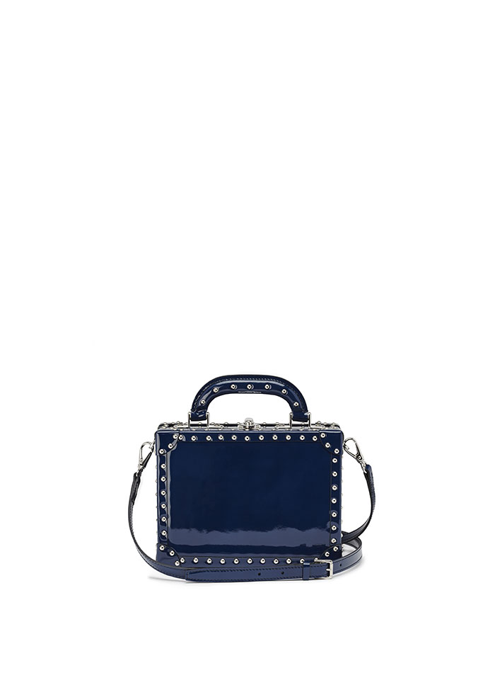 Mini-Squared-Bertoncina-dark-blue-studded-patent-leather-Bertoni-1949-thumb