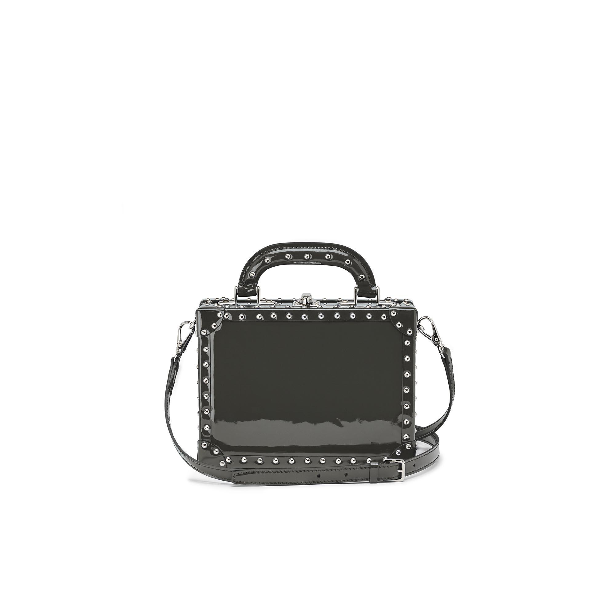 Mini-Squared-Bertoncina-grey-studded-patent-leather-Bertoni-1949