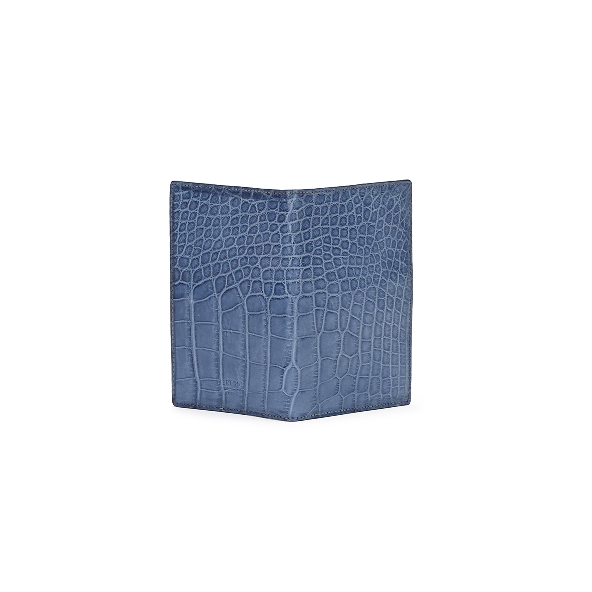 The navy alligator Passport Case by Bertoni 1949 02
