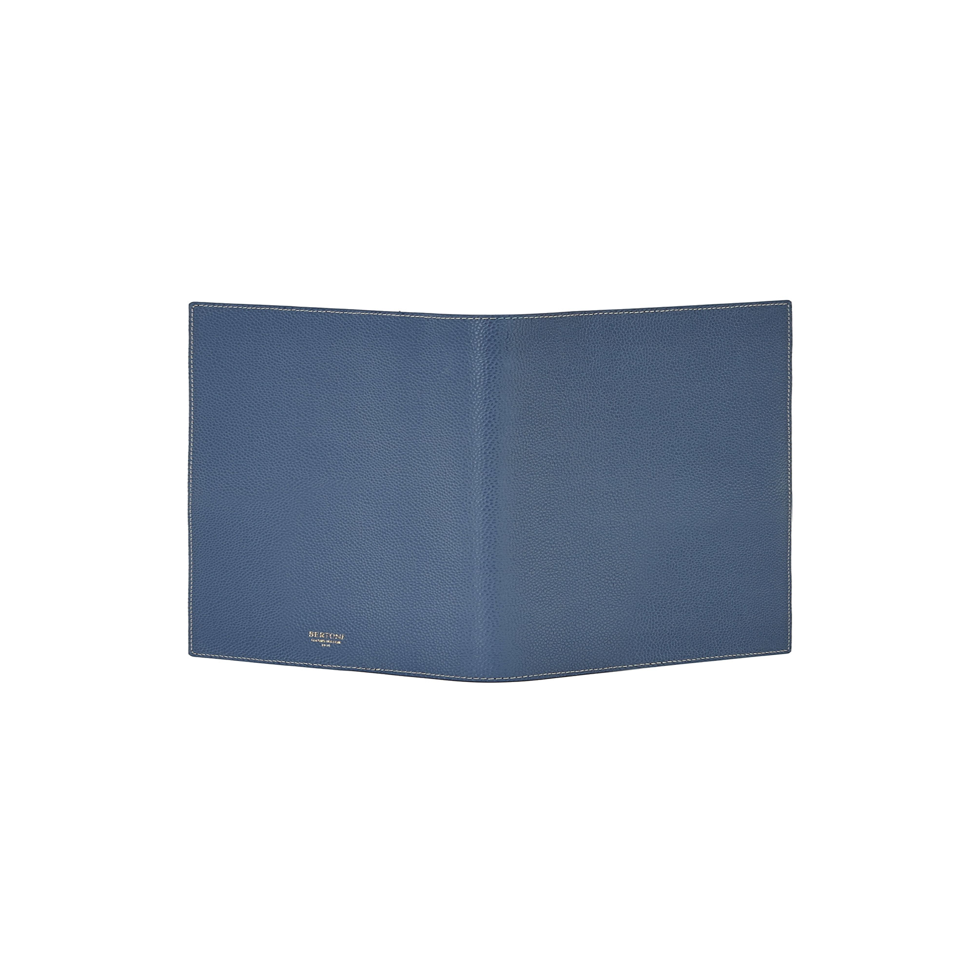 The navy grain calf Diary Holder by Bertoni 1949 02