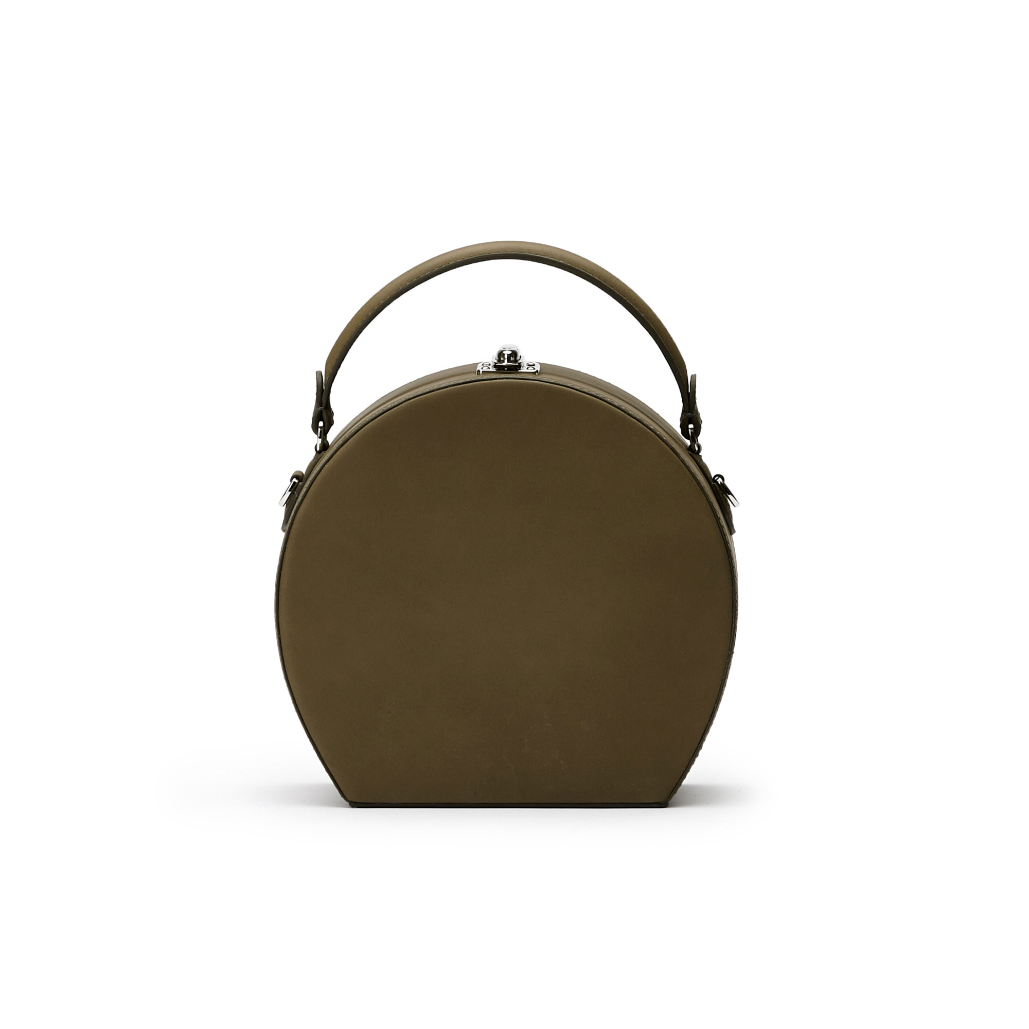 The olive green french calf Regular Bertoncina bag by Bertoni 1949 01