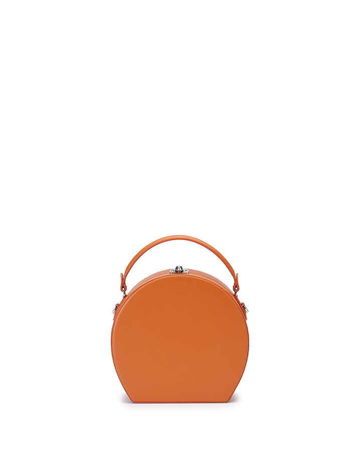 The orange french calf Regular Bertoncina bag by Bertoni 1949