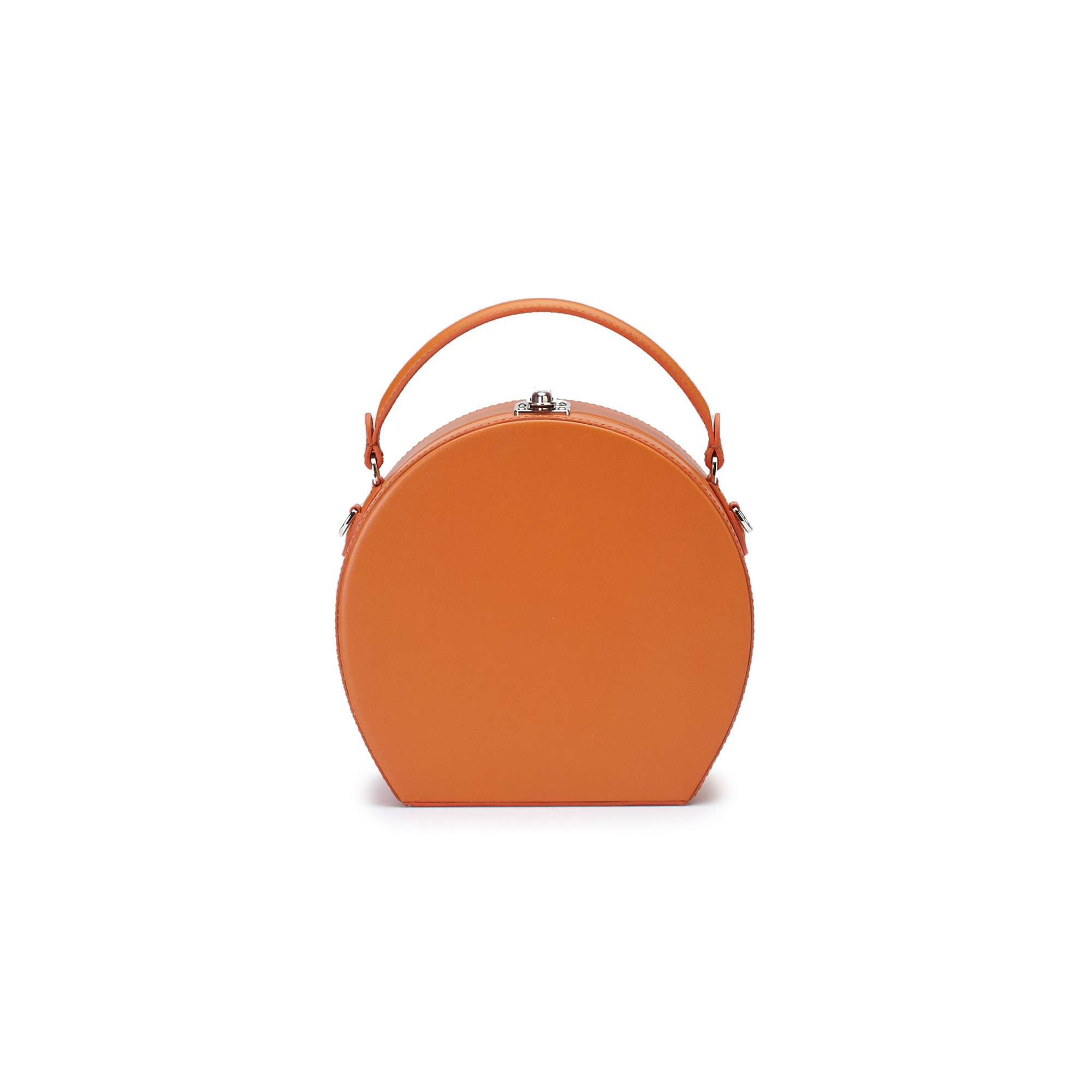 The orange french calf Regular Bertoncina bag by Bertoni 1949 01