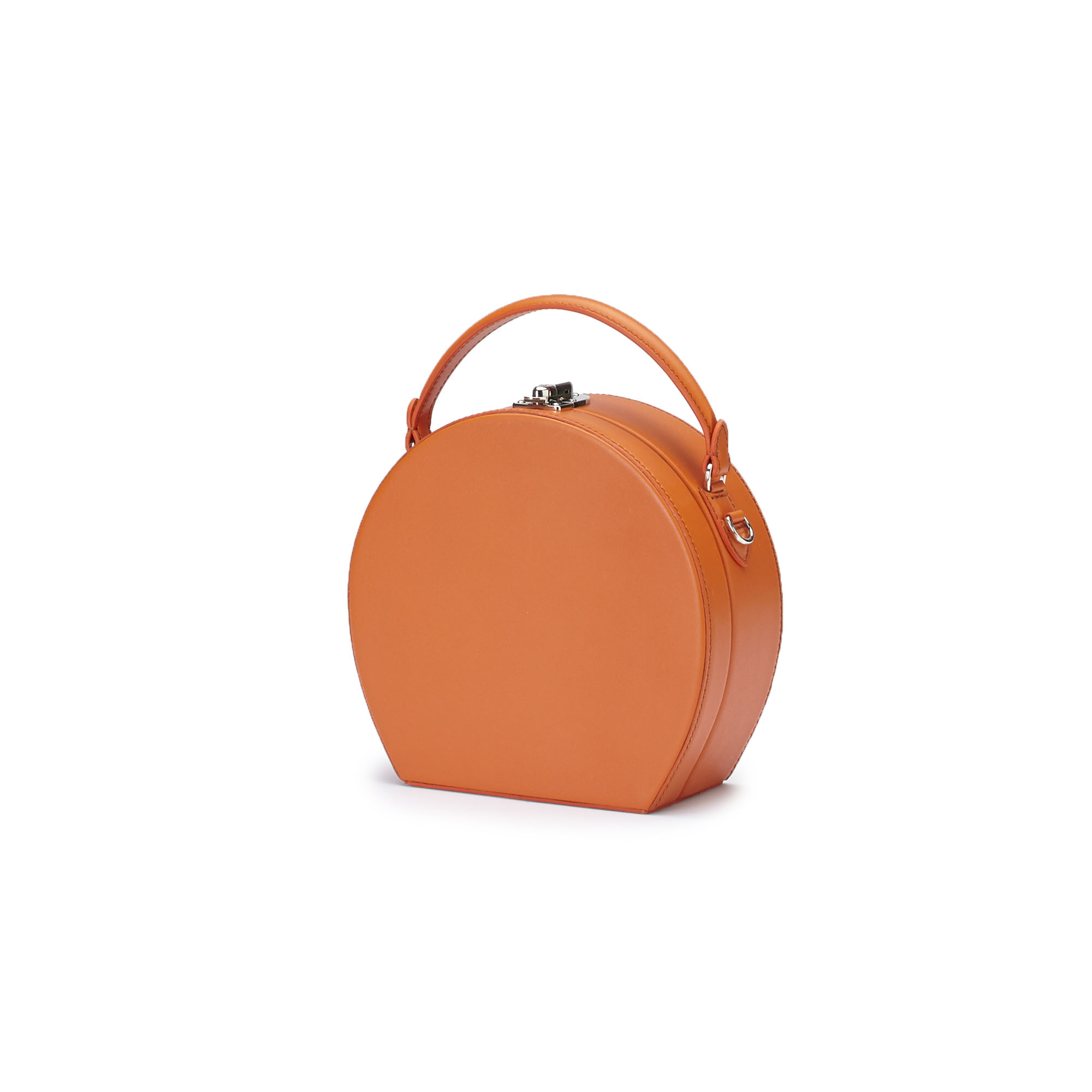 The orange french calf Regular Bertoncina bag by Bertoni 1949 02
