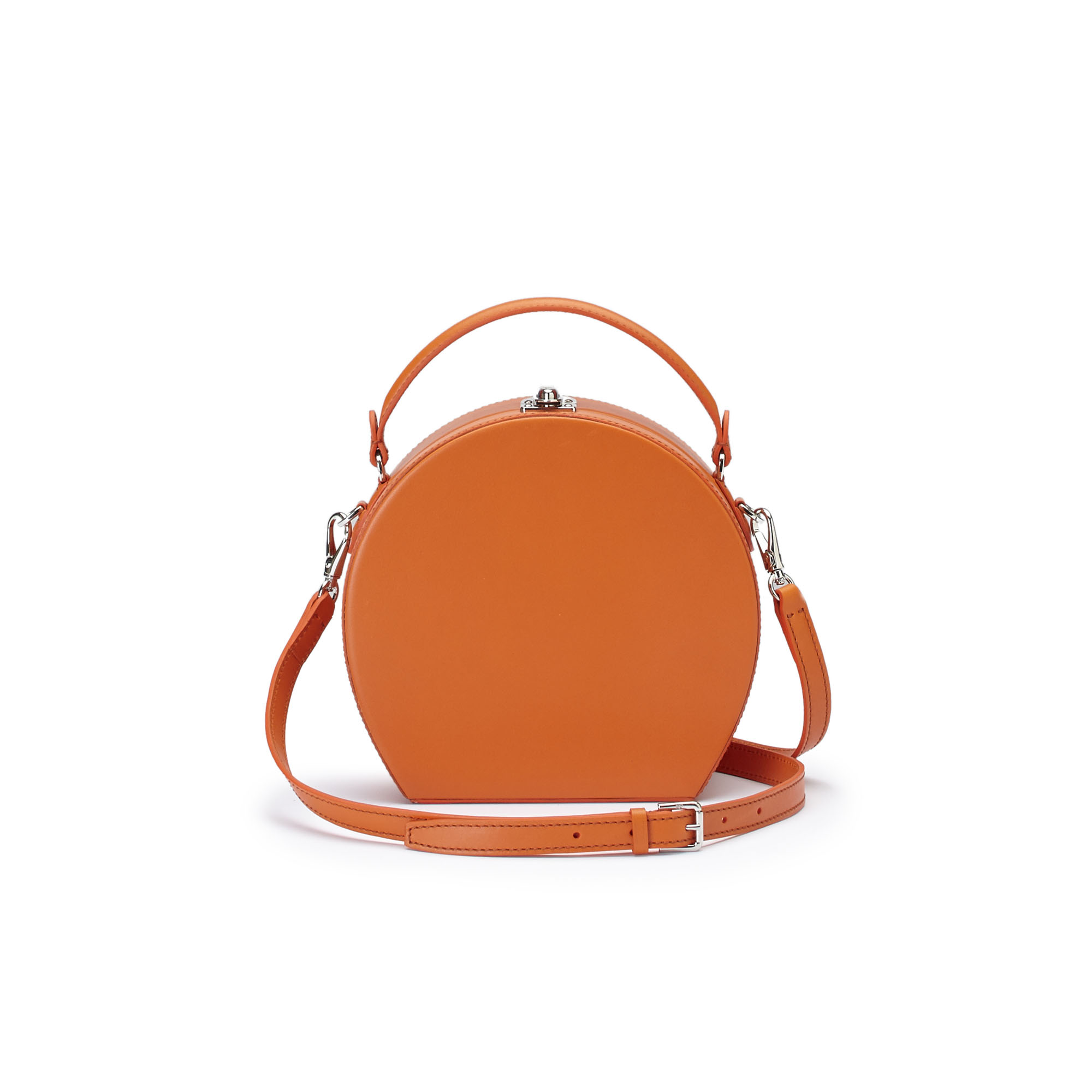 The orange french calf Regular Bertoncina bag by Bertoni 1949 03