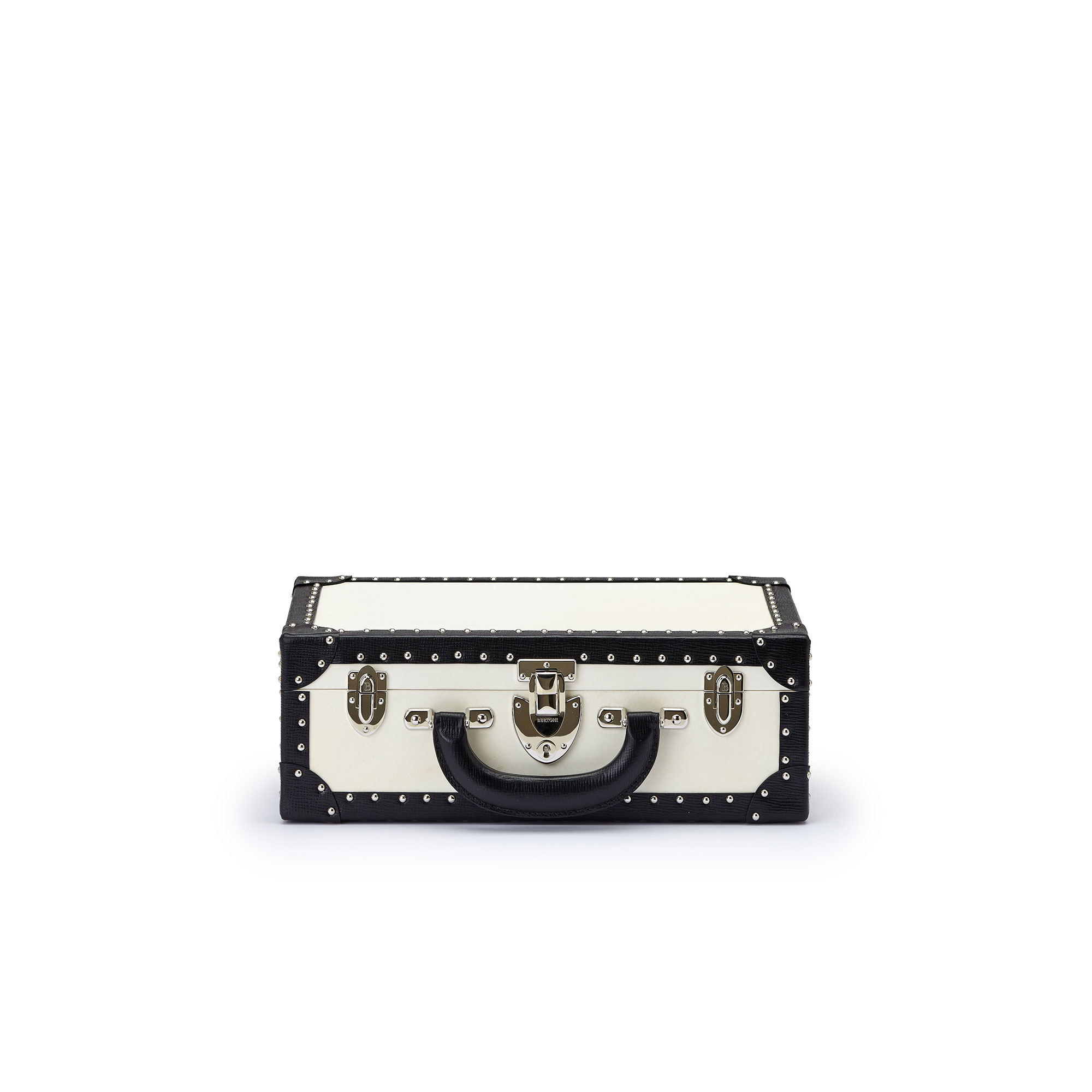 The parchment and black alligator with studs Jewellery Attache by Bertoni 1949 01