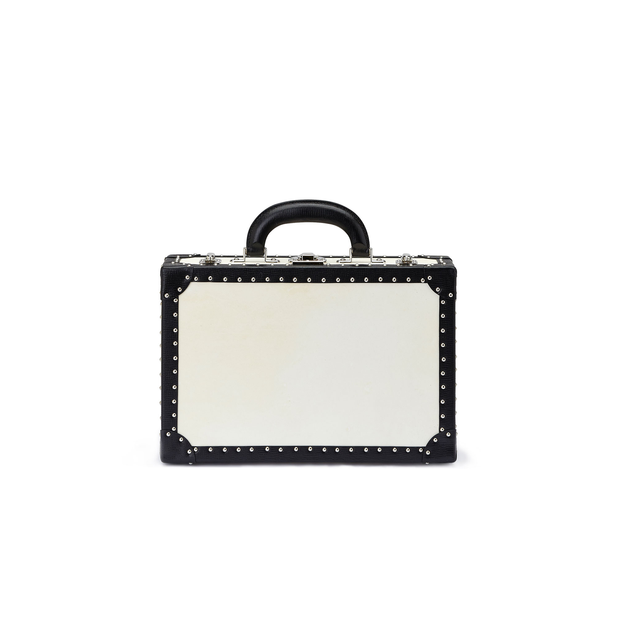 The parchment and black alligator with studs Jewellery Attache by Bertoni 1949 02