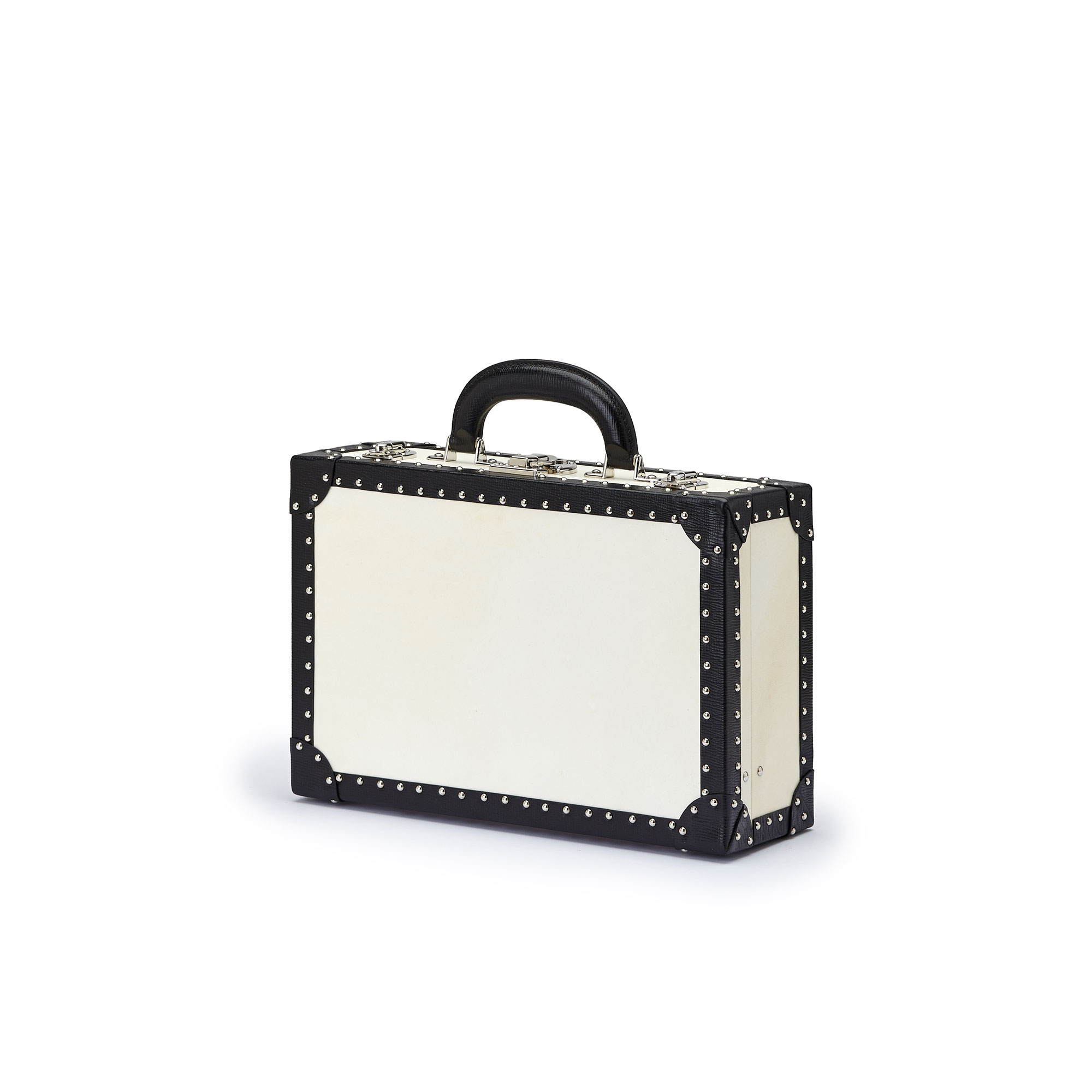 The parchment and black alligator with studs Jewellery Attache by Bertoni 1949 03