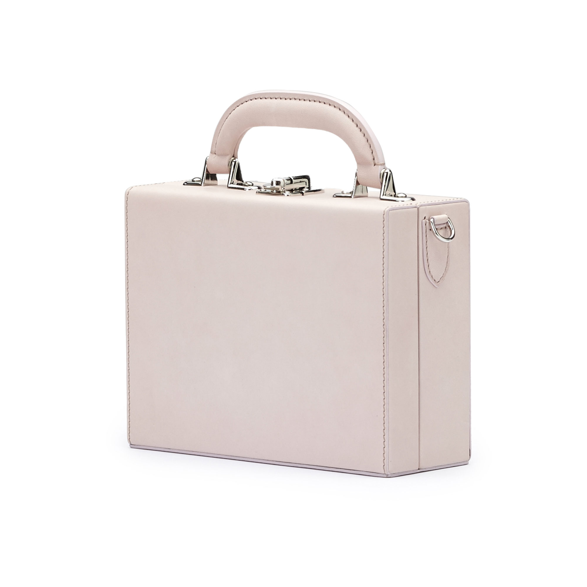 The pink french calf Mini Squared Bertoncina bag by Bertoni 1949 02