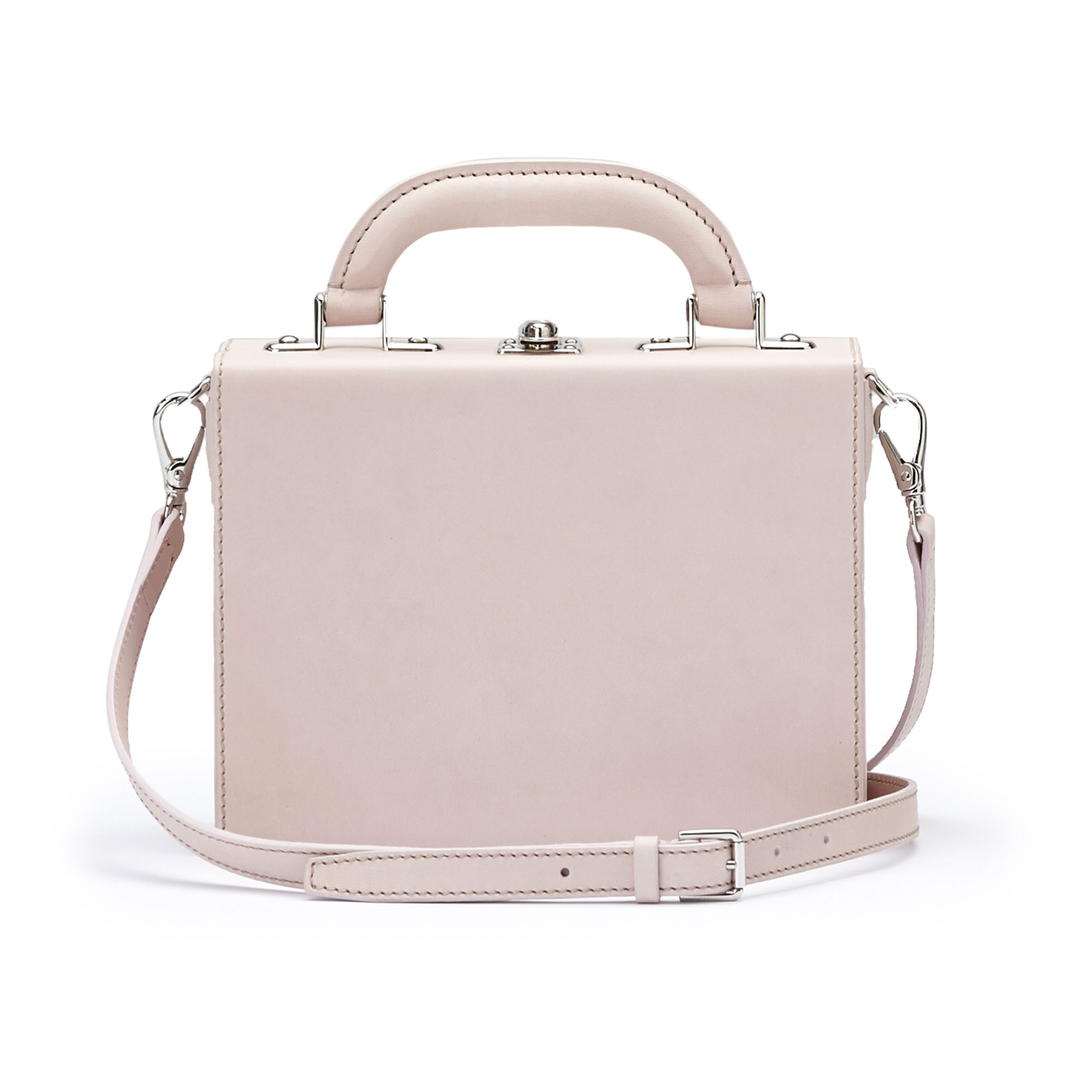 The pink french calf Mini Squared Bertoncina bag by Bertoni 1949 03