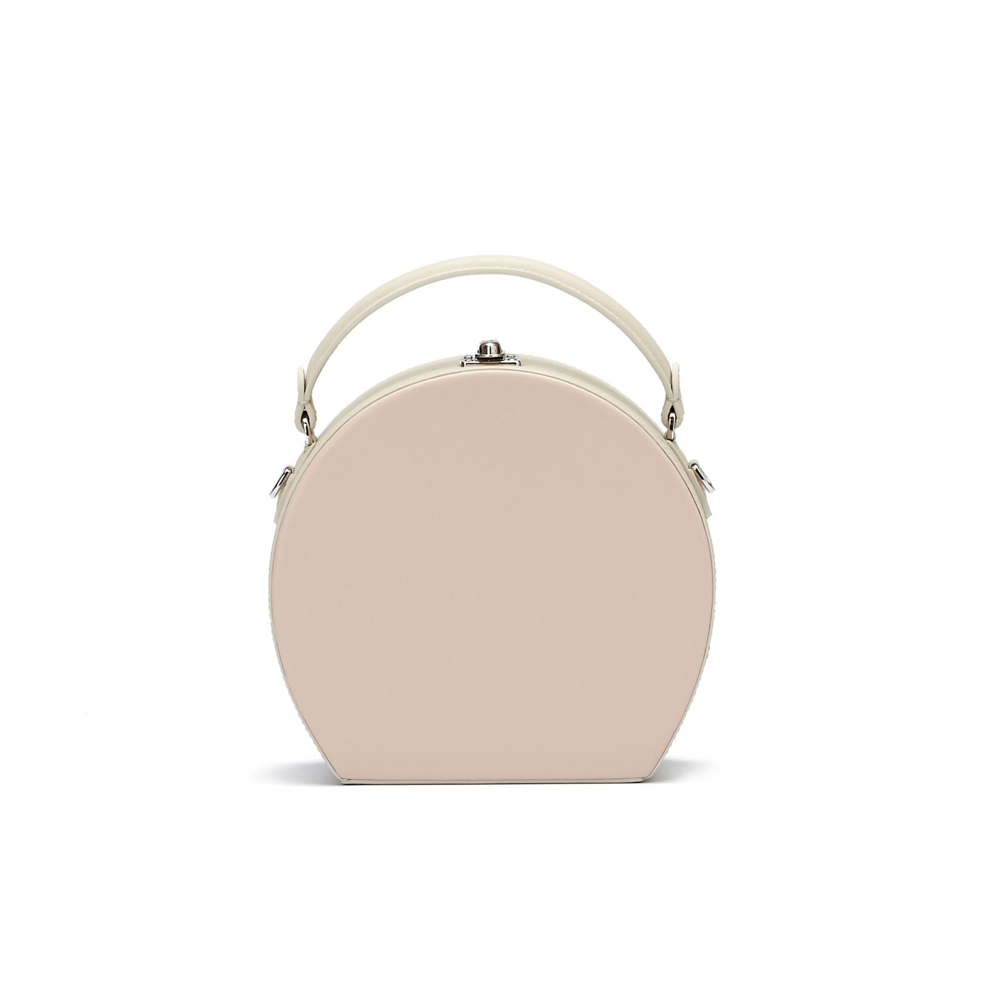 The pink french calf Regular Bertoncina bag by Bertoni 1949 01