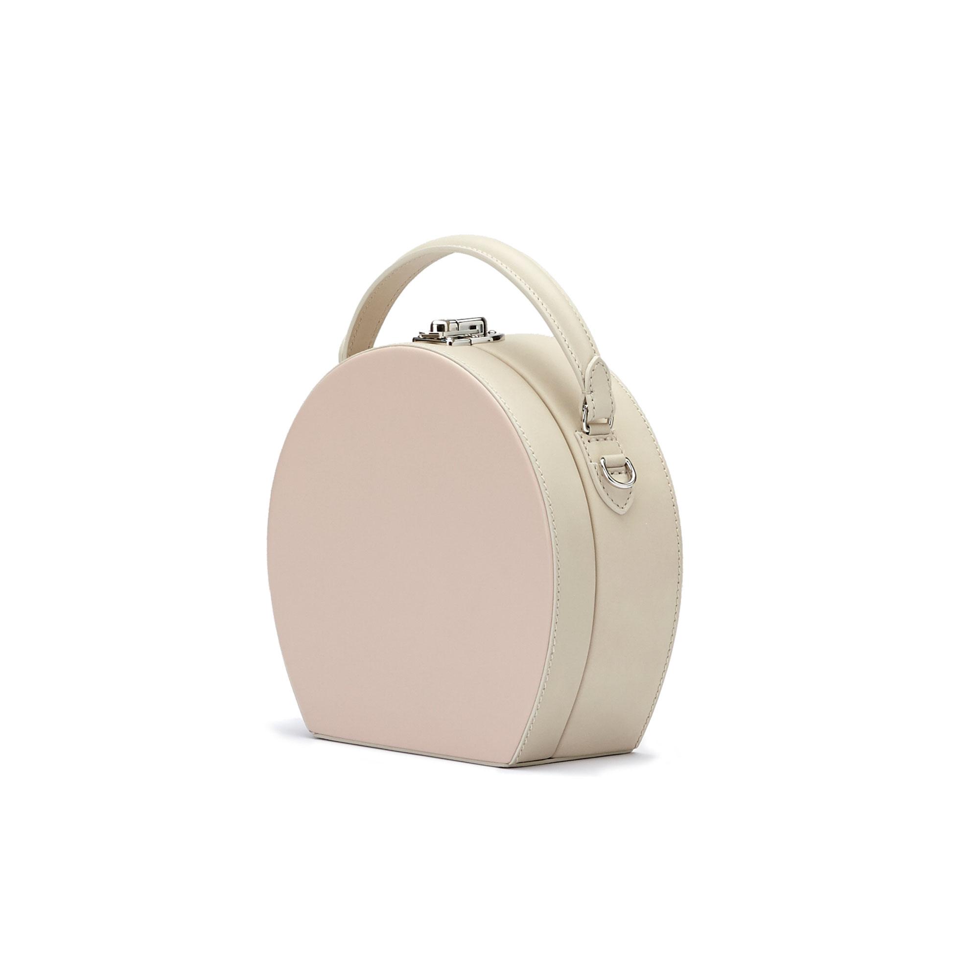 The pink french calf Regular Bertoncina bag by Bertoni 1949 02