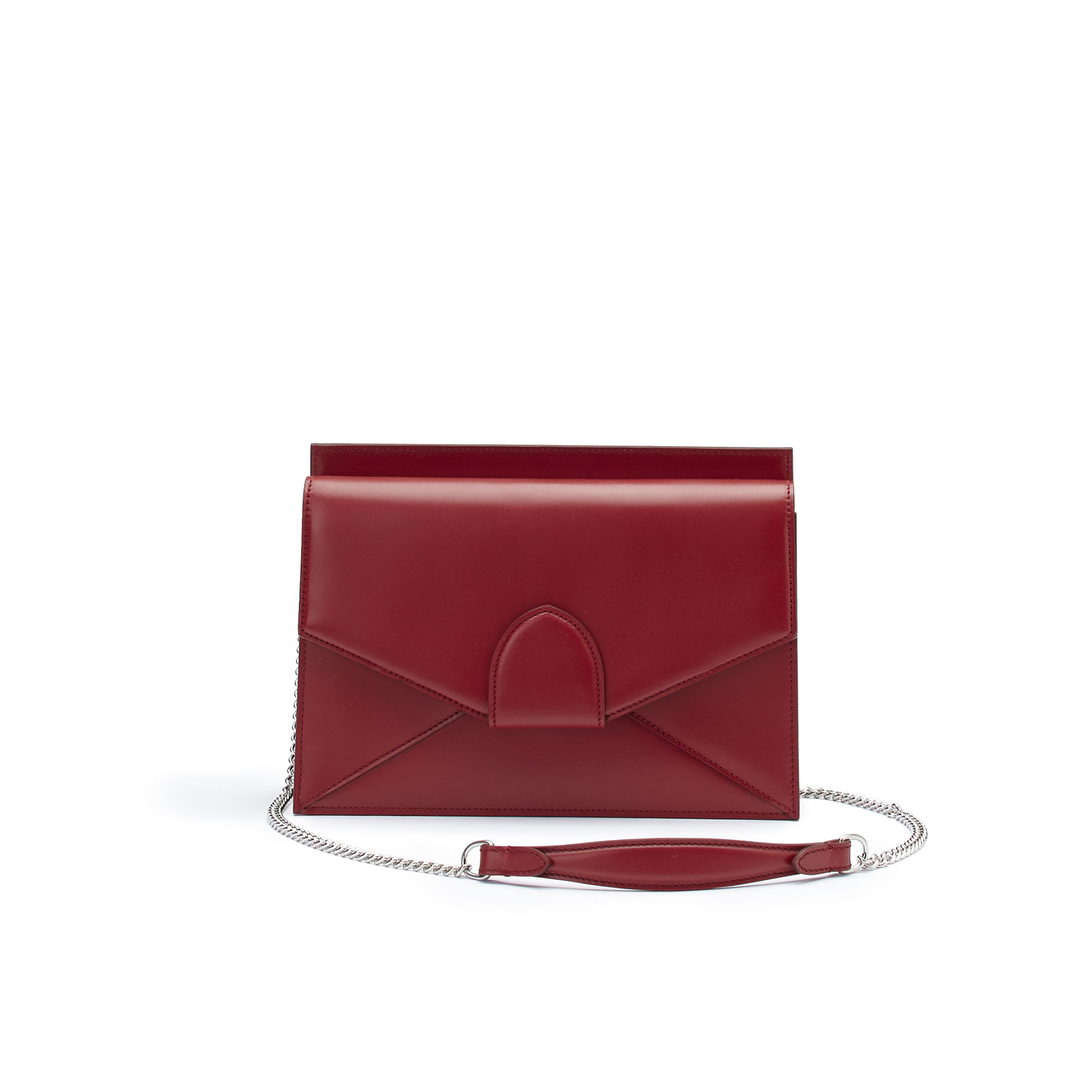 The red french calf Dafne Chain bag by Bertoni 1949 01