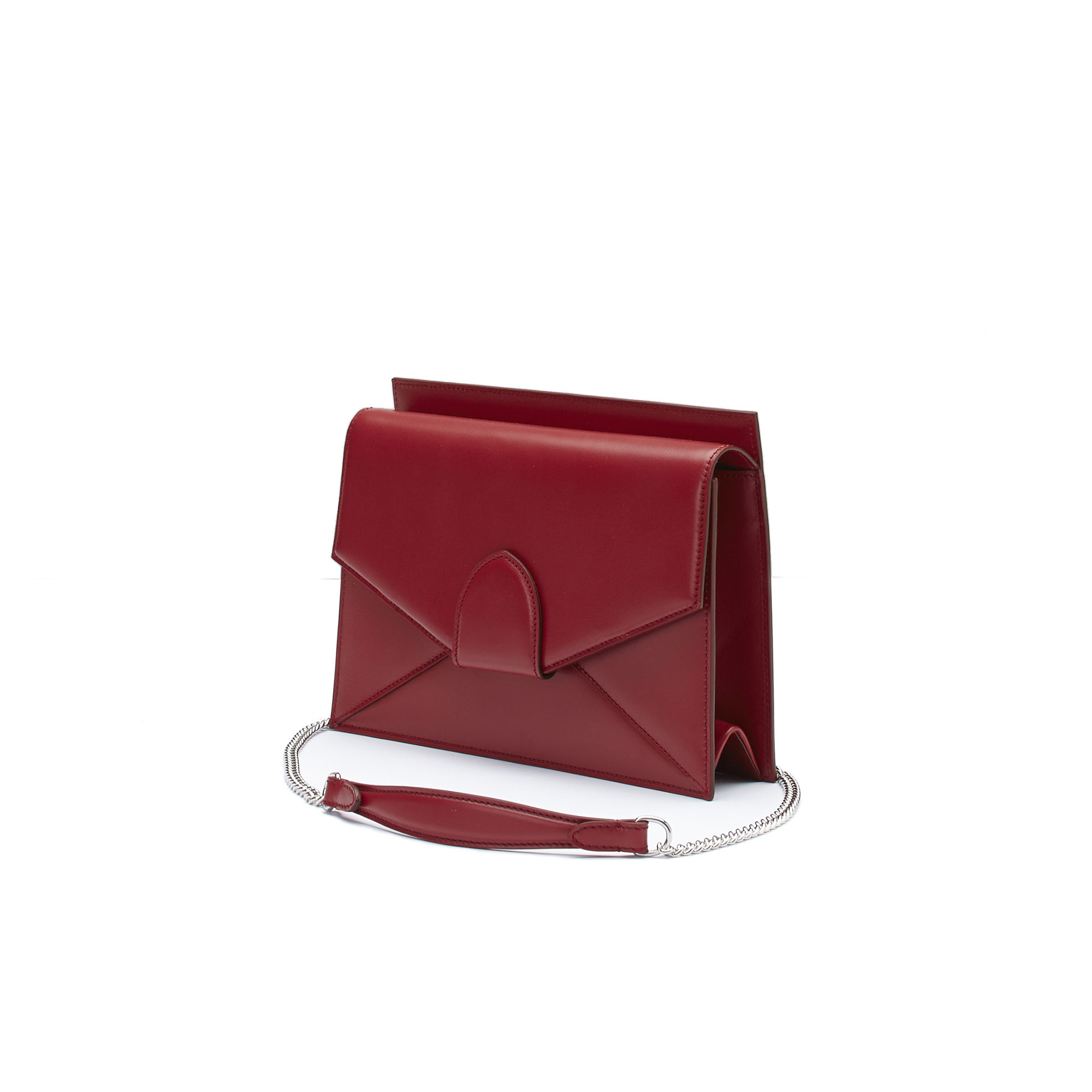 The red french calf Dafne Chain bag by Bertoni 1949 02