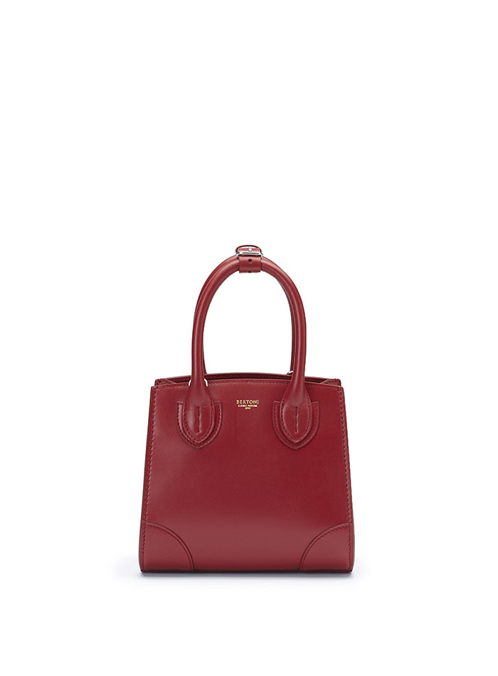 The red french calf Darcy bag by Bertoni 1949